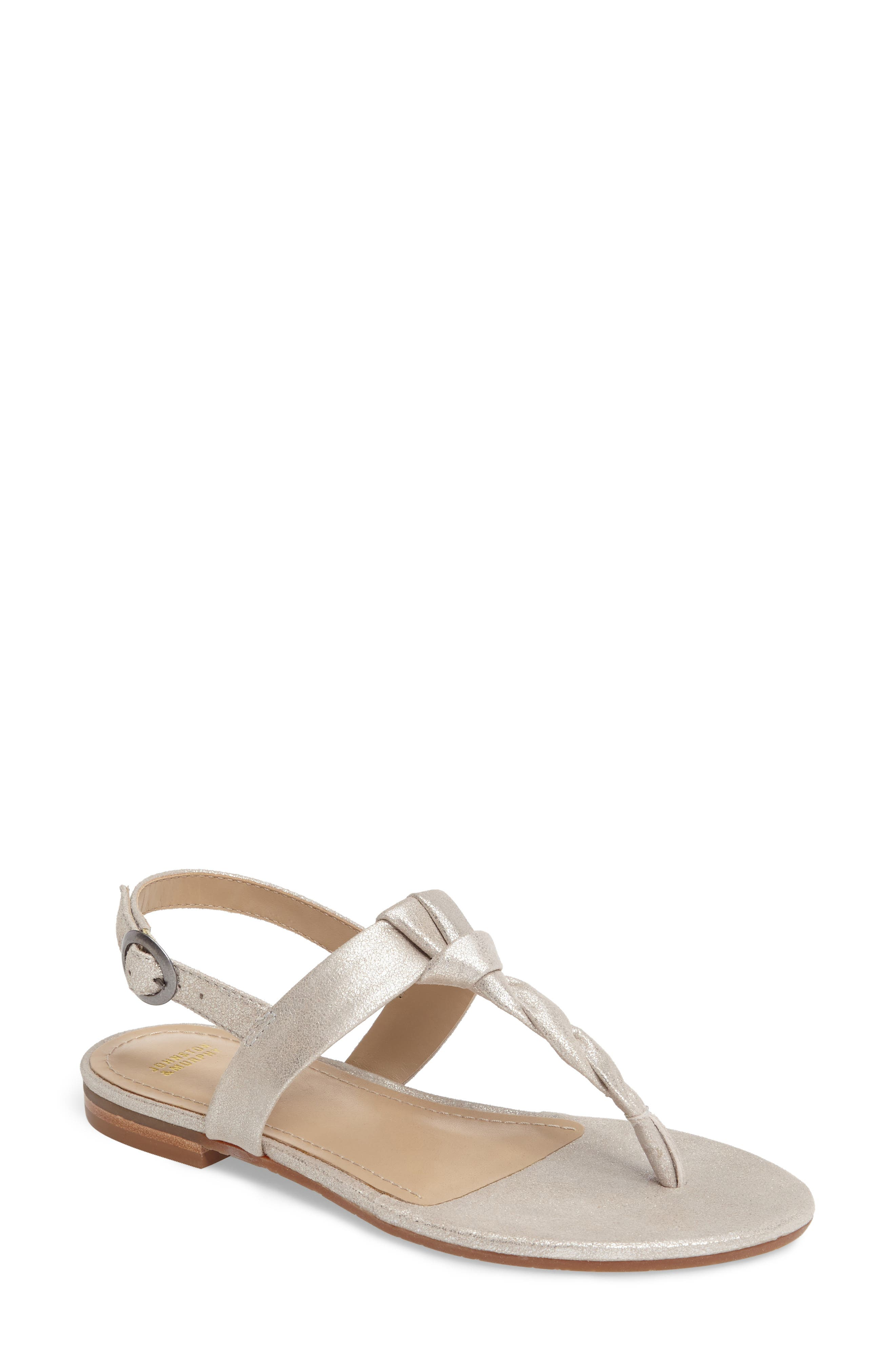Holly Twisted T-Strap Sandal,                             Main thumbnail 2, color,