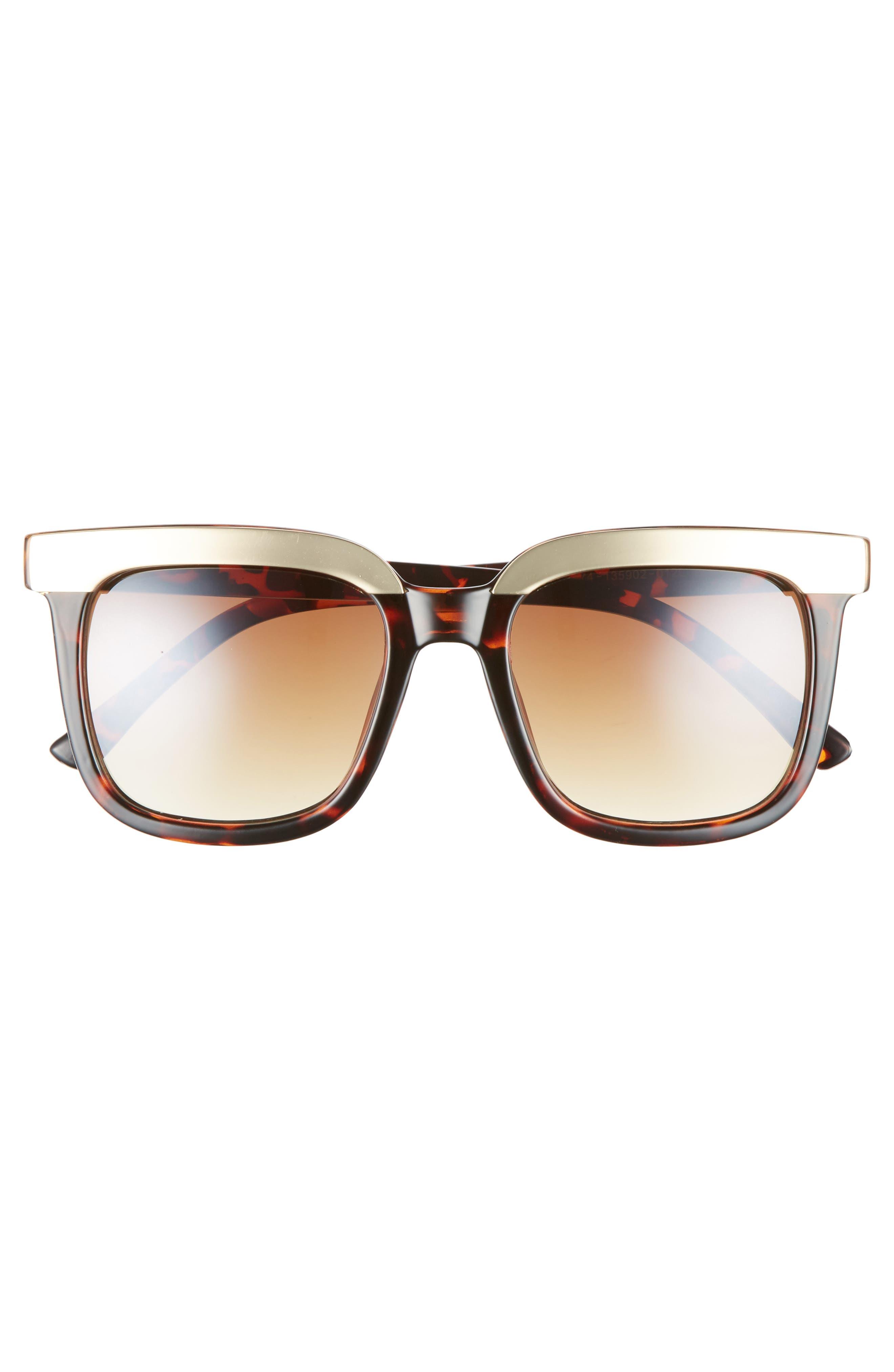 52mm Metal Dipped Square Sunglasses,                             Alternate thumbnail 3, color,