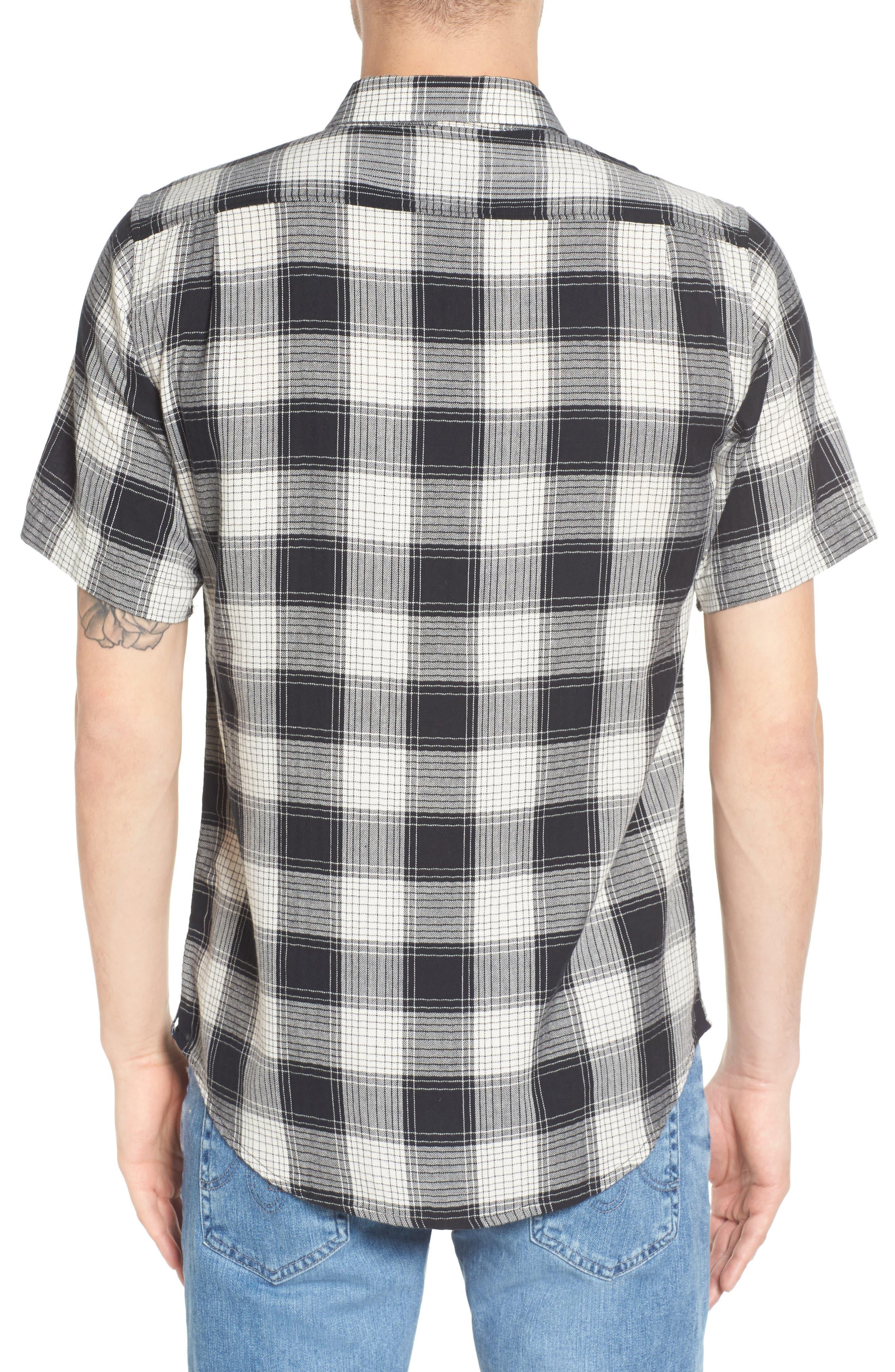 Herringbone Woven Plaid Shirt,                             Alternate thumbnail 2, color,                             100