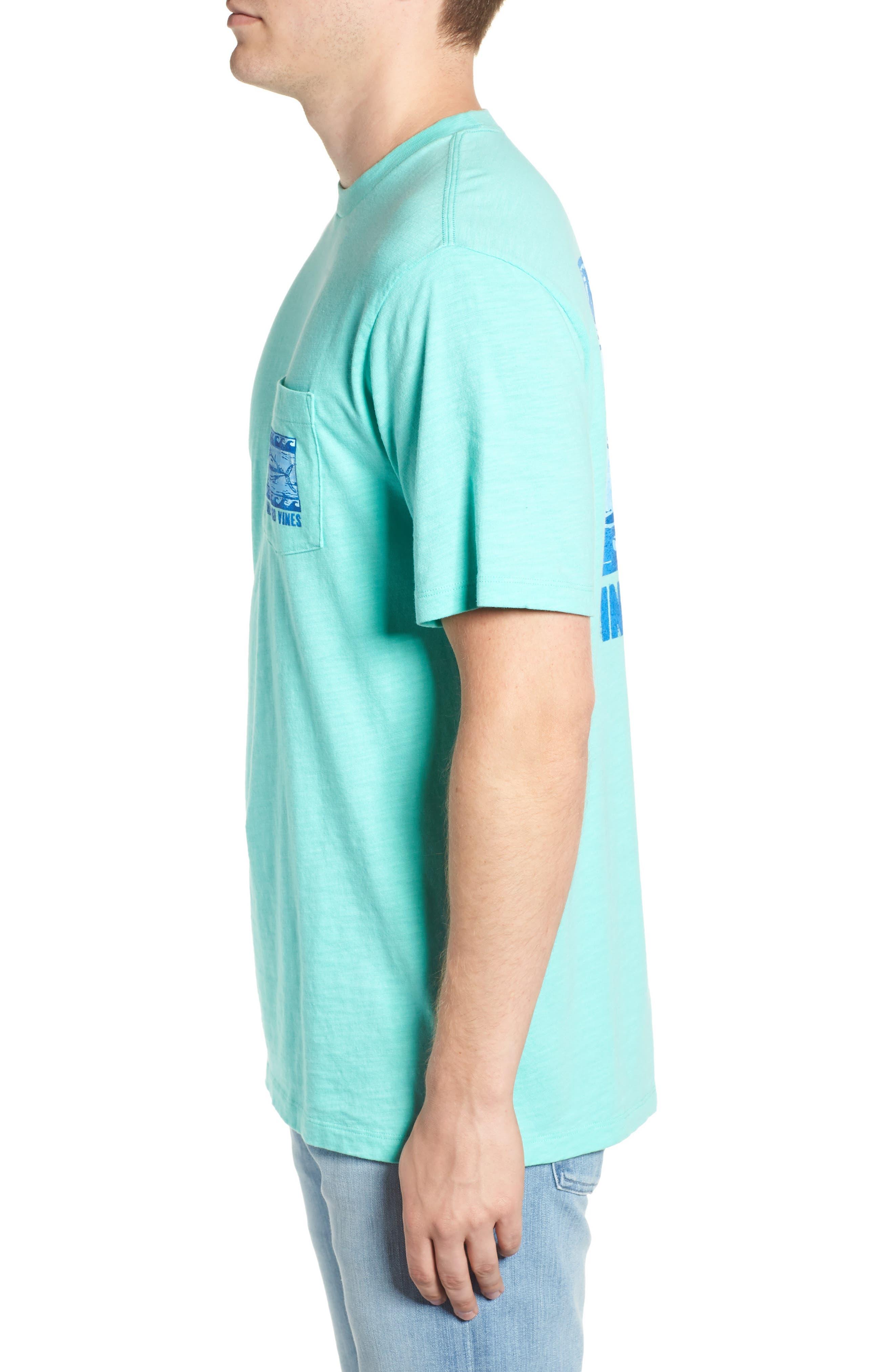 Woodblock Tuna T-Shirt,                             Alternate thumbnail 3, color,                             400