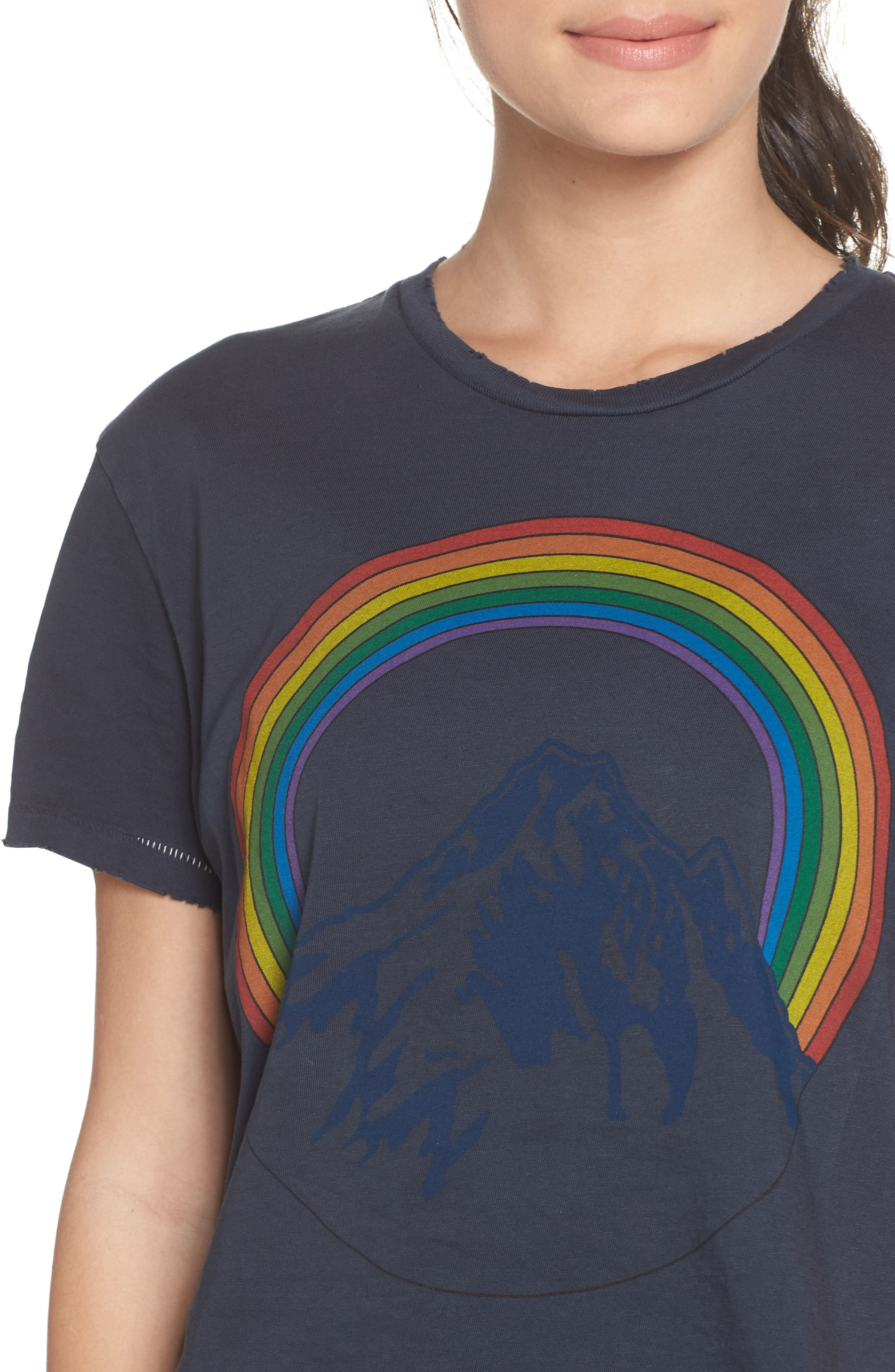Mountain Rainbow Tee,                             Alternate thumbnail 4, color,                             CHARCOAL