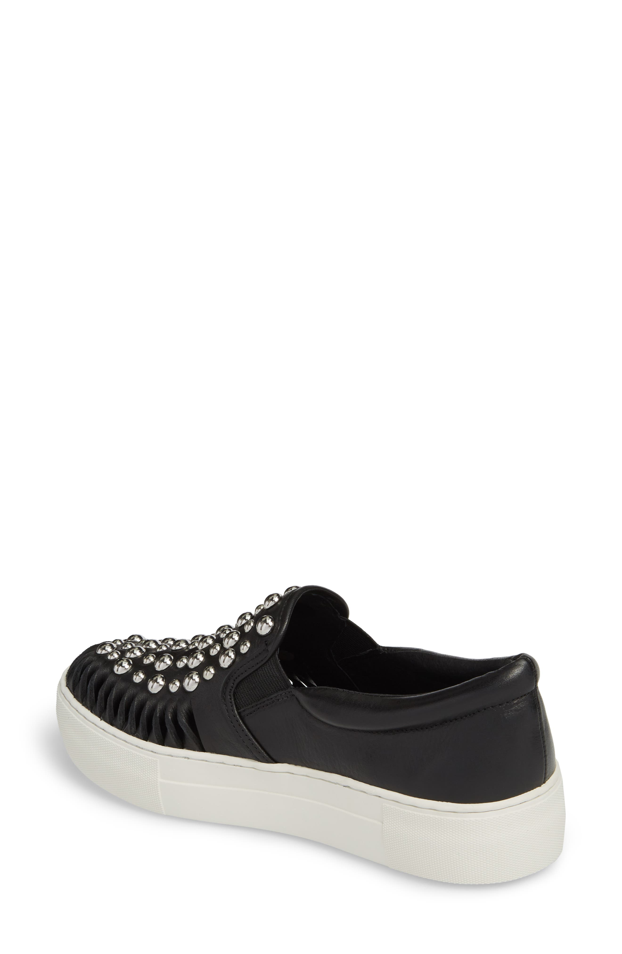 AZT Studded Slip-On Sneaker,                             Alternate thumbnail 2, color,                             015