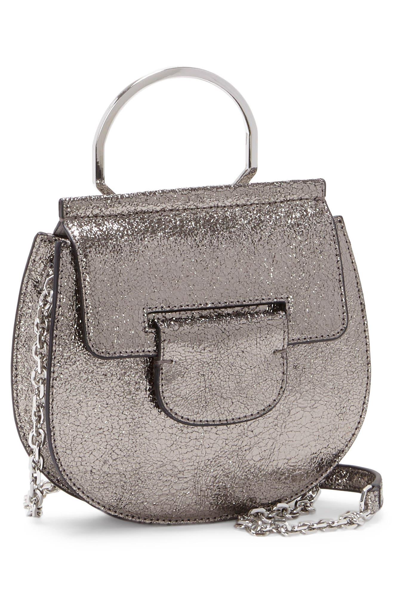Kaea Metallic Leather Bracelet Bag,                             Alternate thumbnail 4, color,                             040