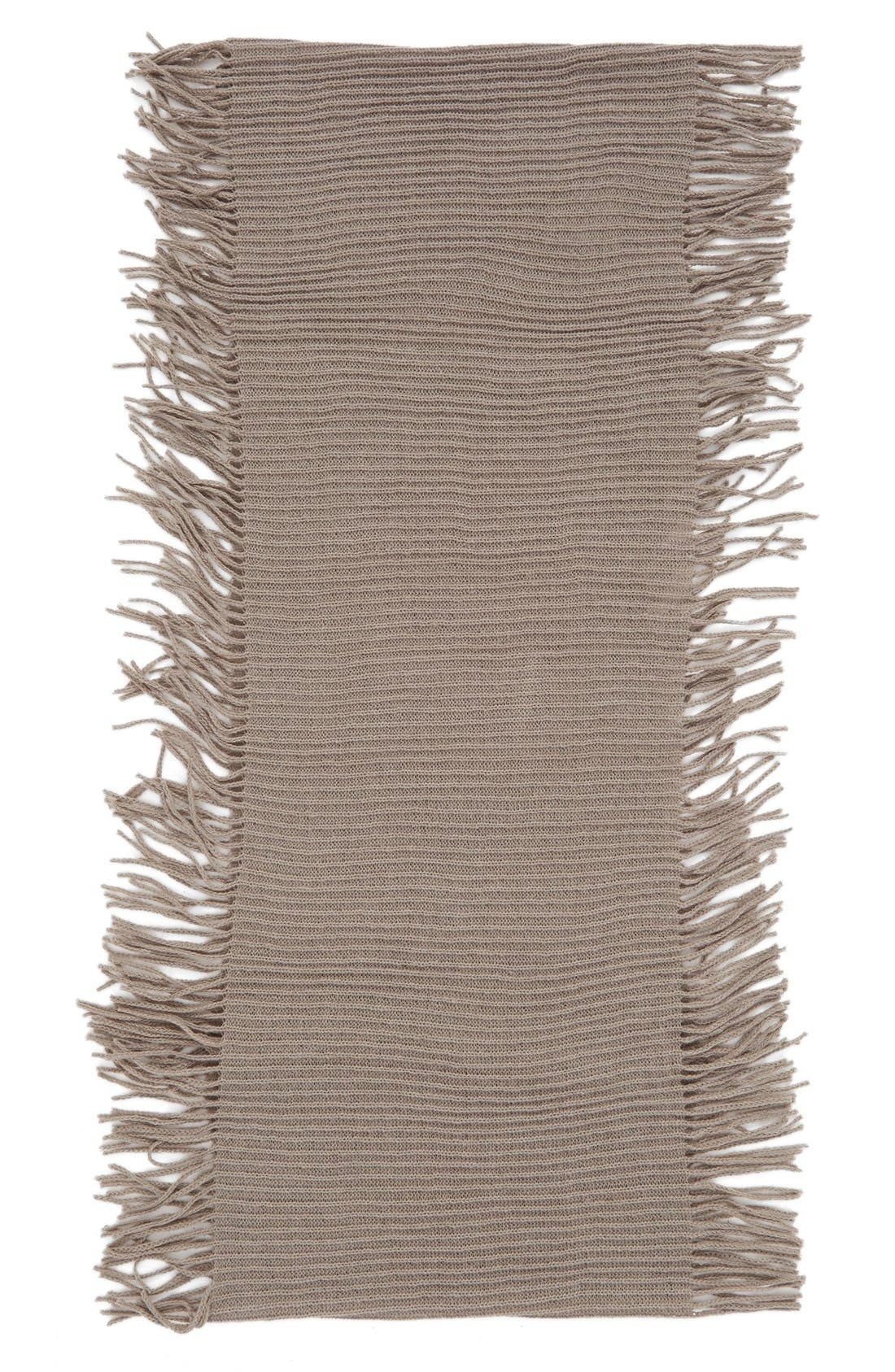 Rib Knit Fringe Infinity Scarf,                             Alternate thumbnail 14, color,
