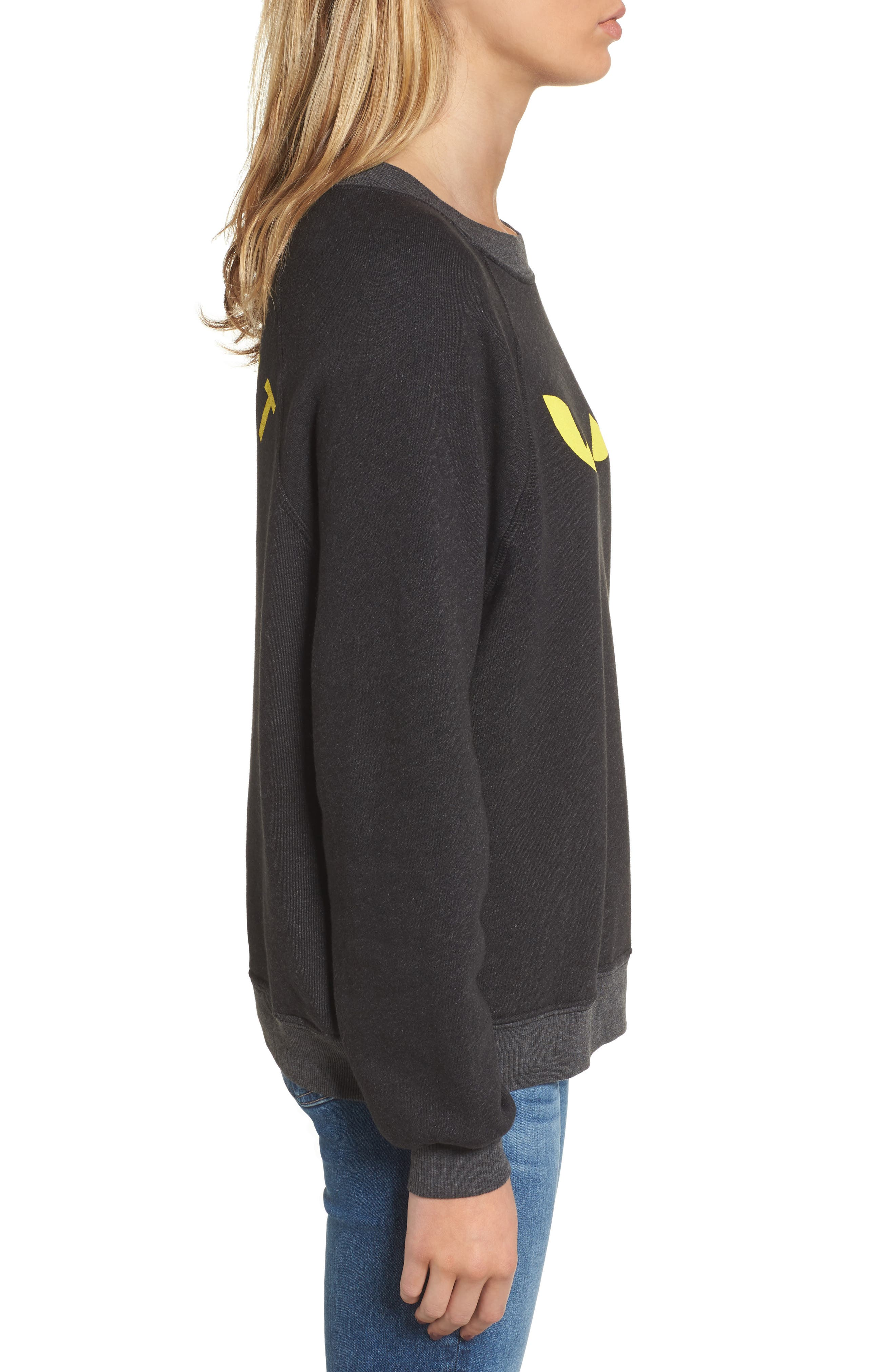 WILDFOX,                             I'm a Cat Sommer Sweatshirt,                             Alternate thumbnail 3, color,                             001