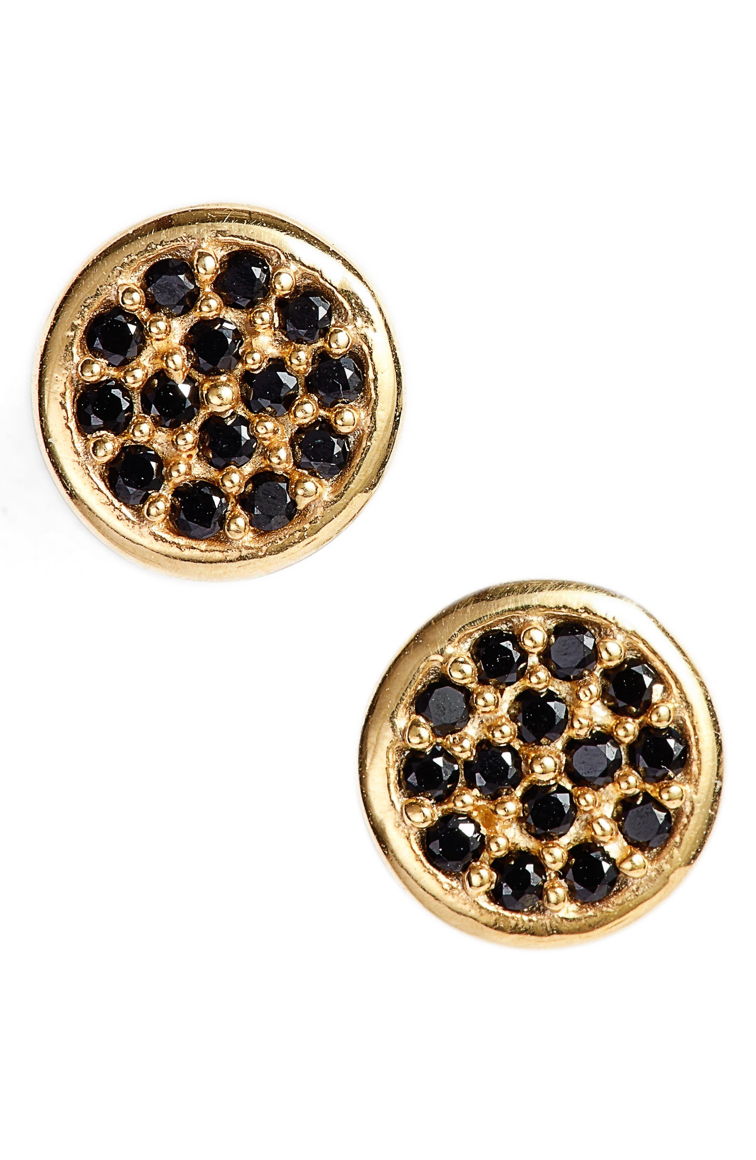 Pavé Stud Earrings,                         Main,                         color, 710