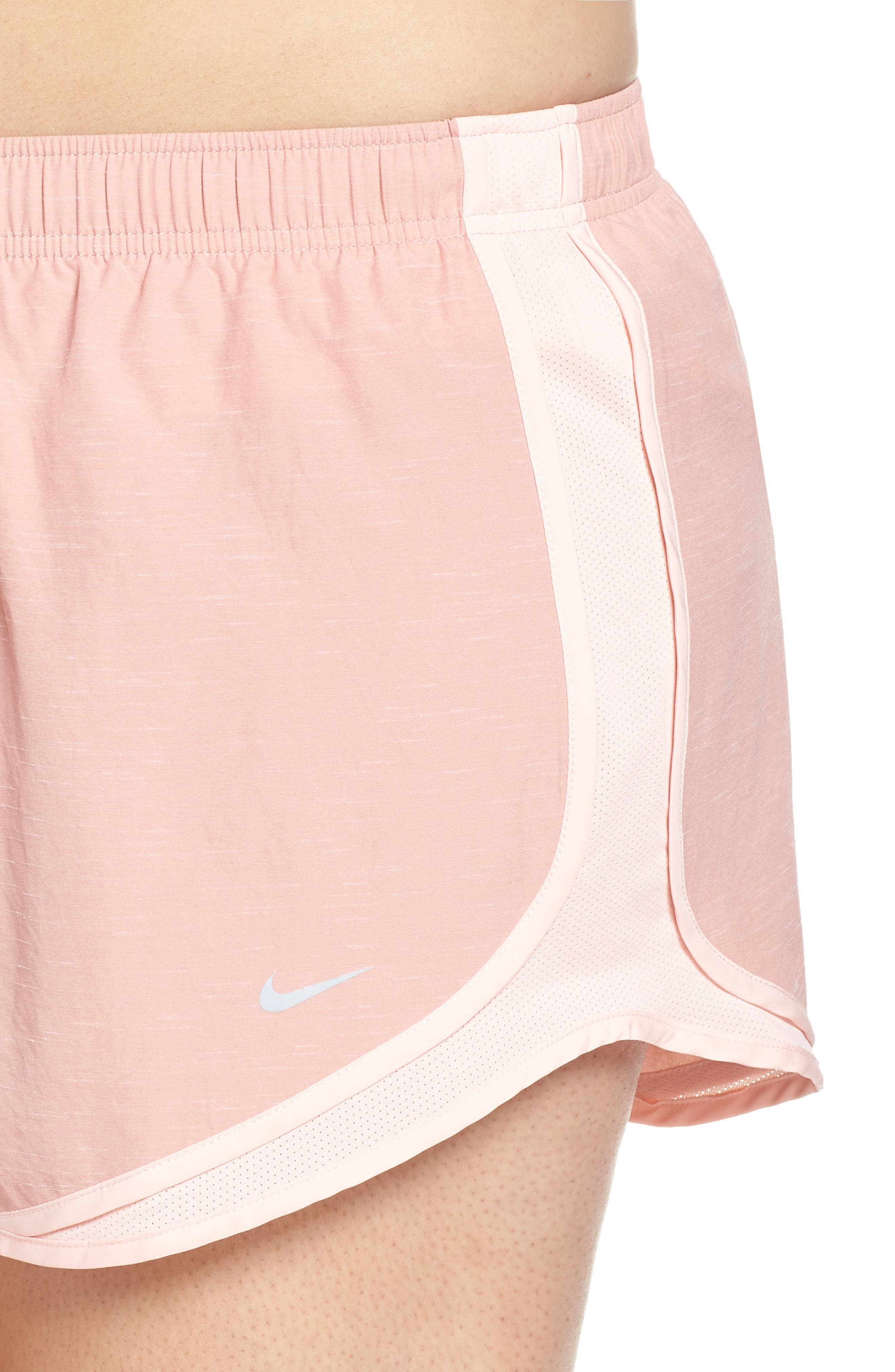 Dry Tempo High Rise Running Shorts,                             Alternate thumbnail 4, color,                             RUST PINK/ STORM PINK
