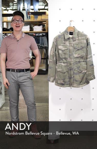 Whitaker Camo Utility Linen Blend Jacket, sales video thumbnail