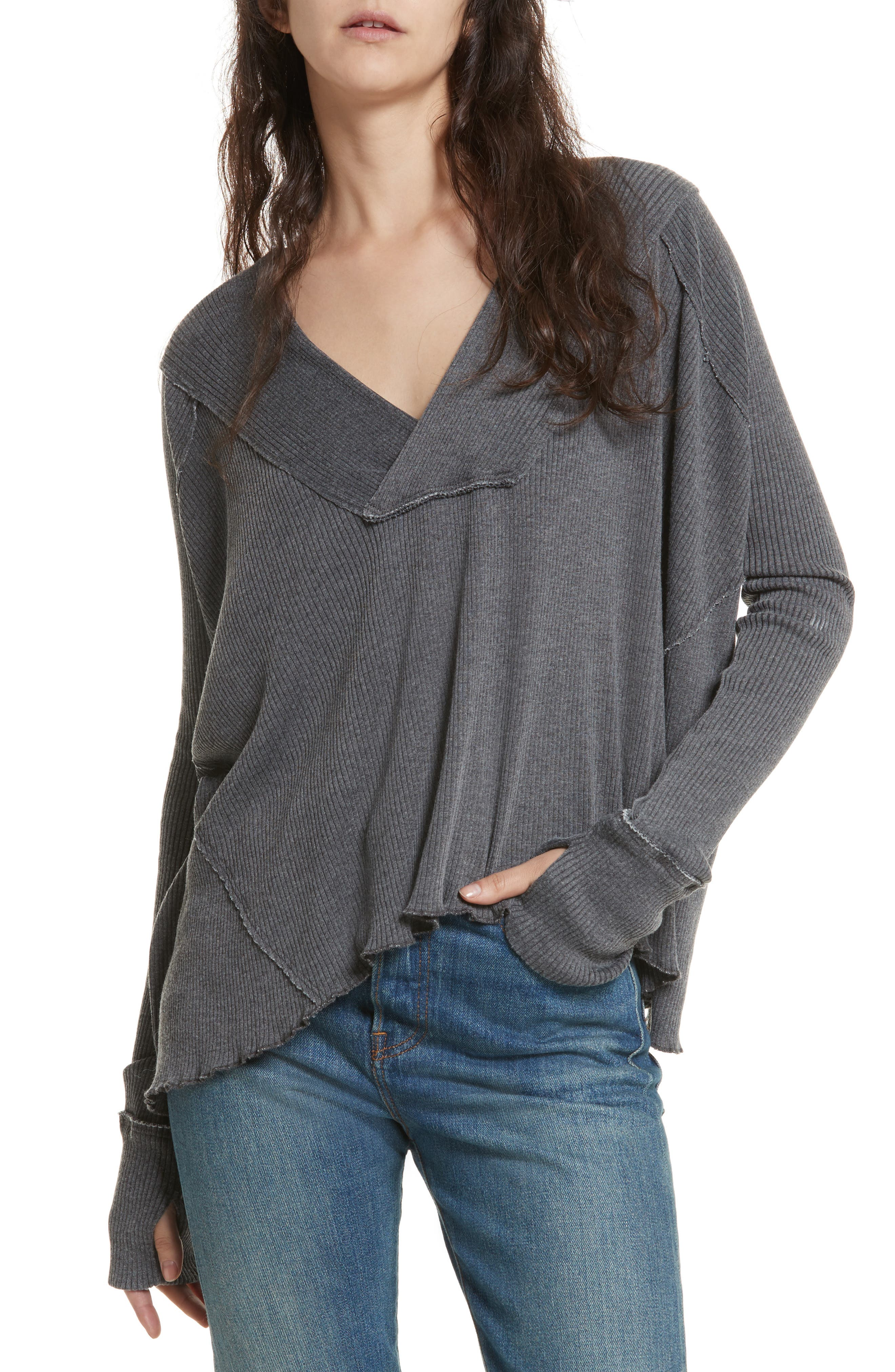 FREE PEOPLE,                             Oceanview Top,                             Main thumbnail 1, color,                             001