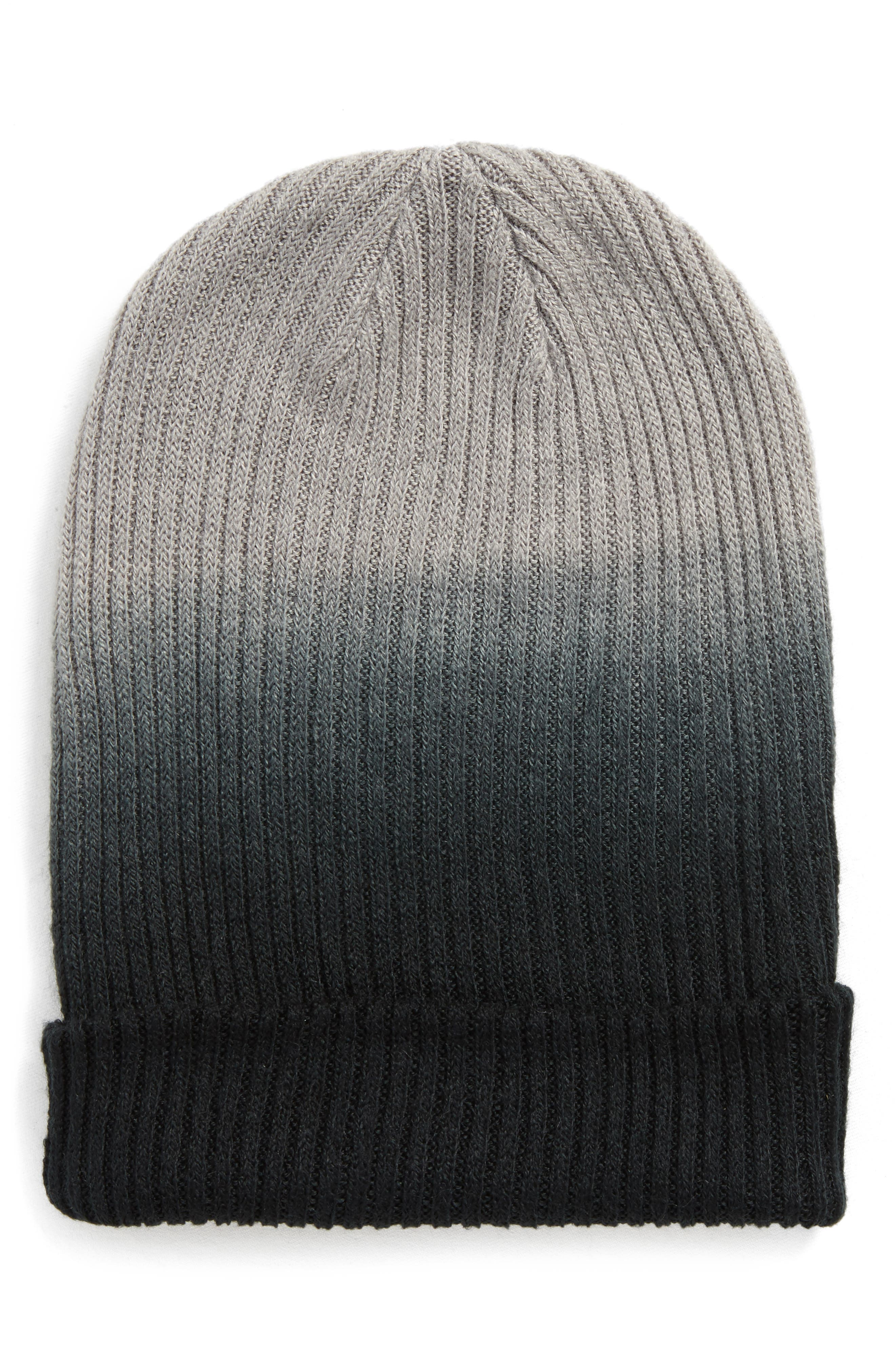 Ombré Knit Beanie,                         Main,                         color, 001