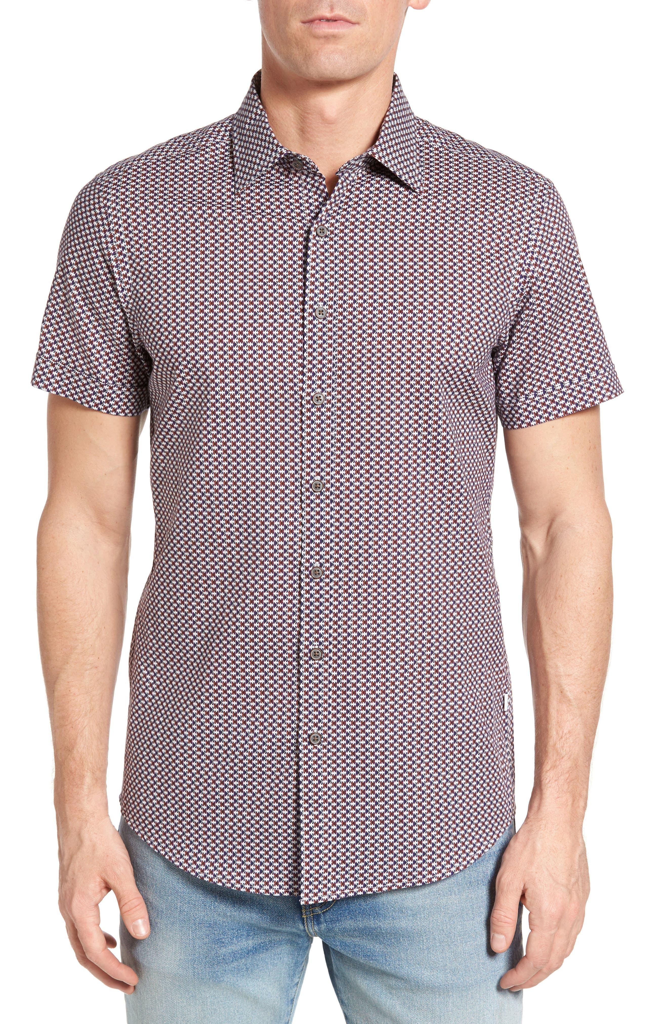 Vaughan Print Sport Shirt,                         Main,                         color, 233