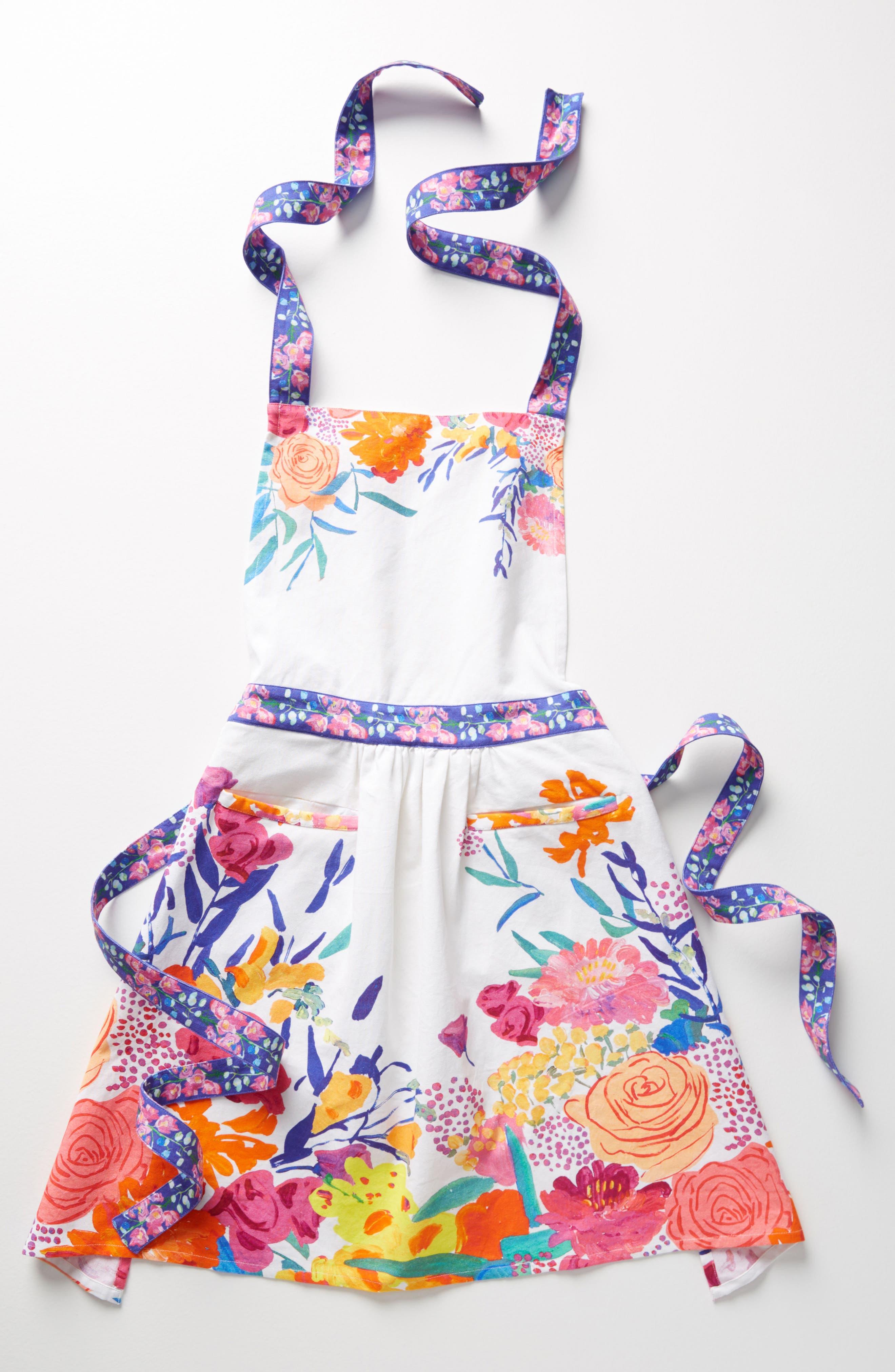 Paint + Petals Apron,                         Main,                         color, 100