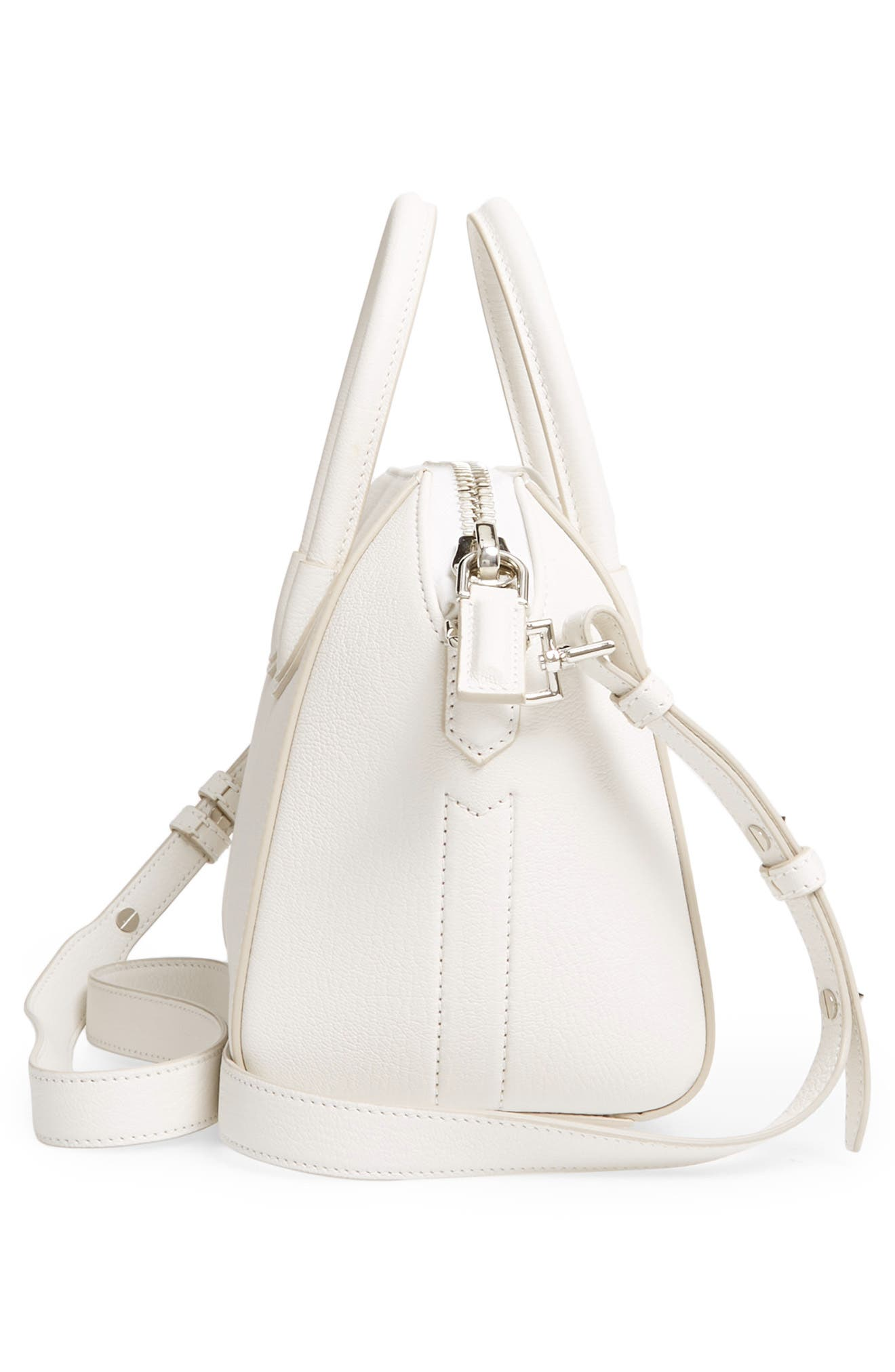 'Mini Antigona' Sugar Leather Satchel,                             Alternate thumbnail 5, color,                             WHITE