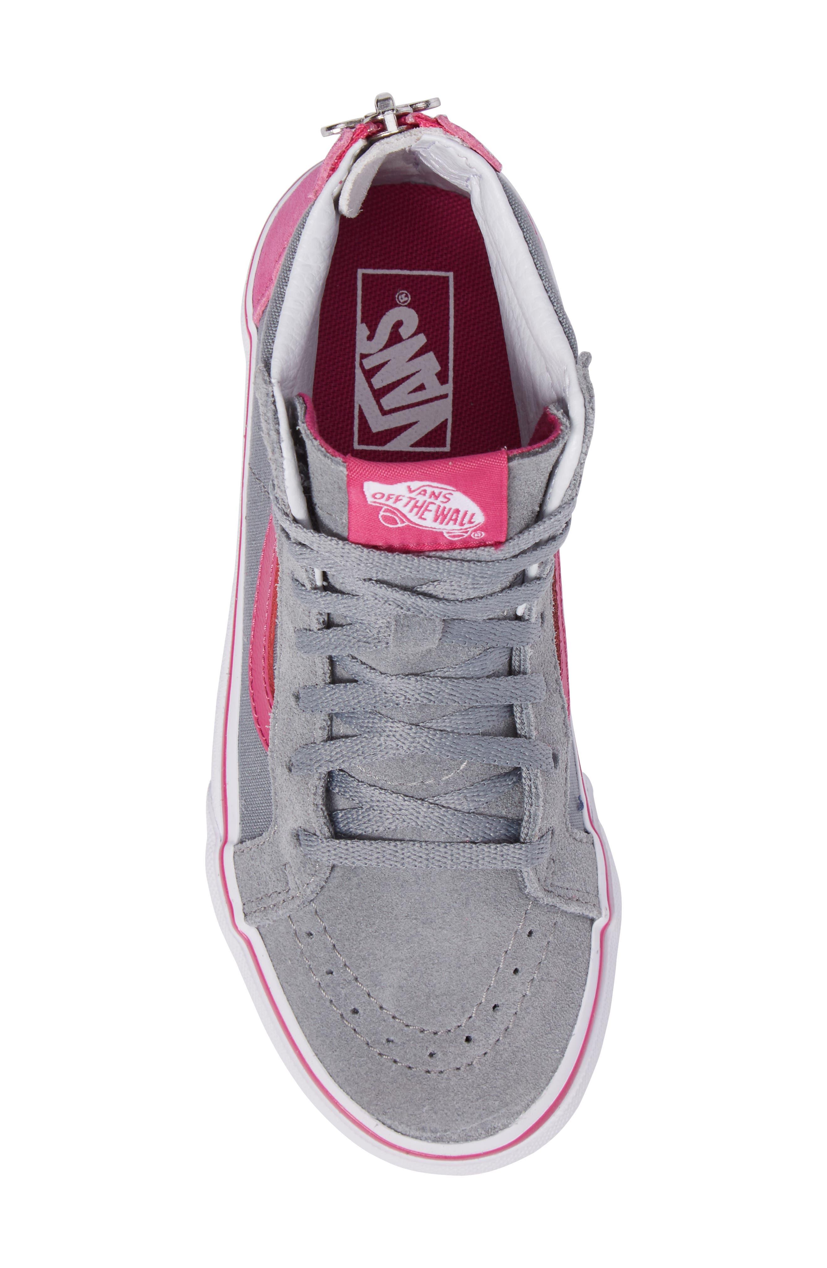 SK8-Hi Zip-Up Sneaker,                             Alternate thumbnail 5, color,                             650