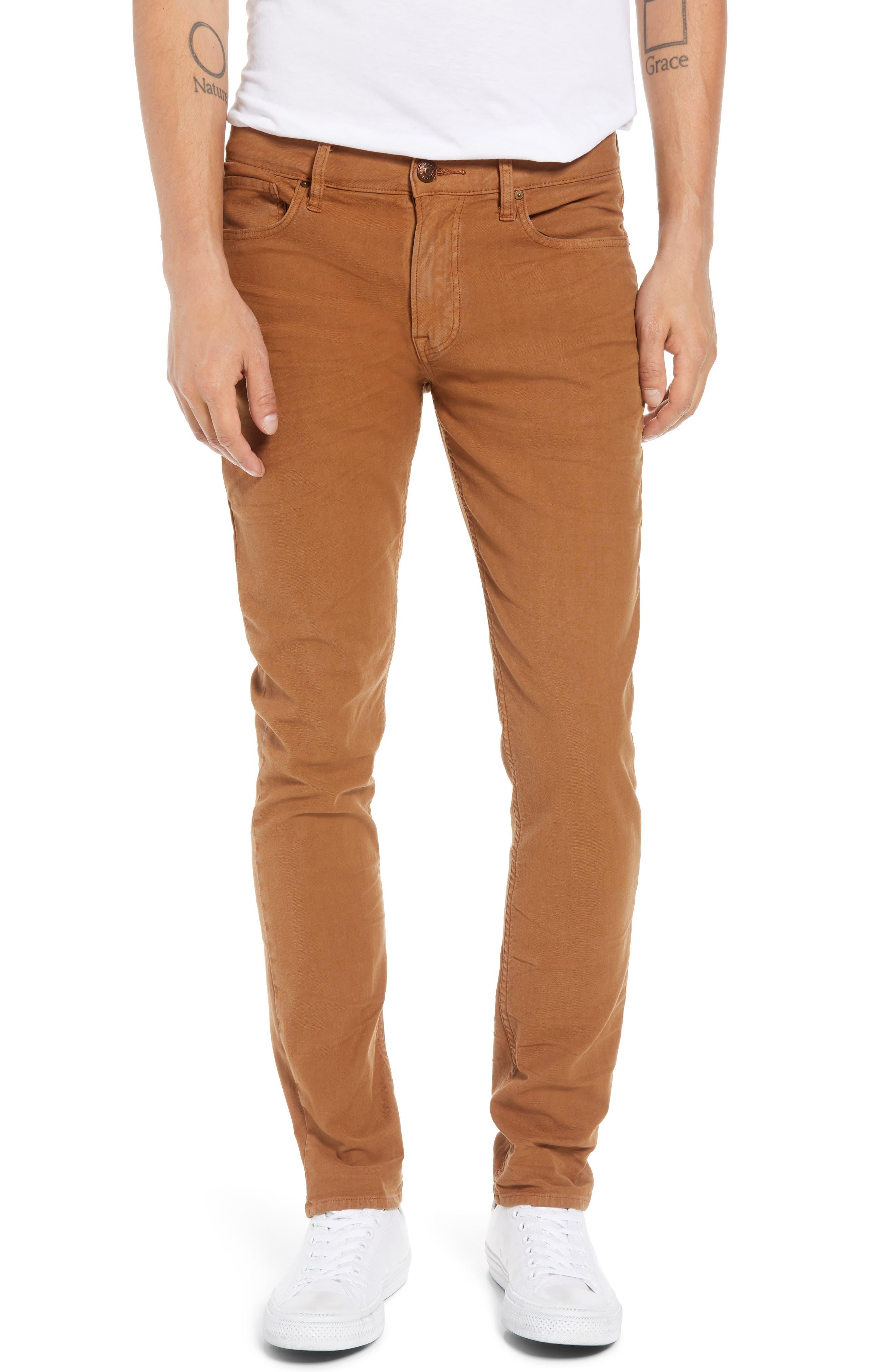 Men's Hudson Jeans Axl Skinny Fit Jeans, Size 36 - Brown