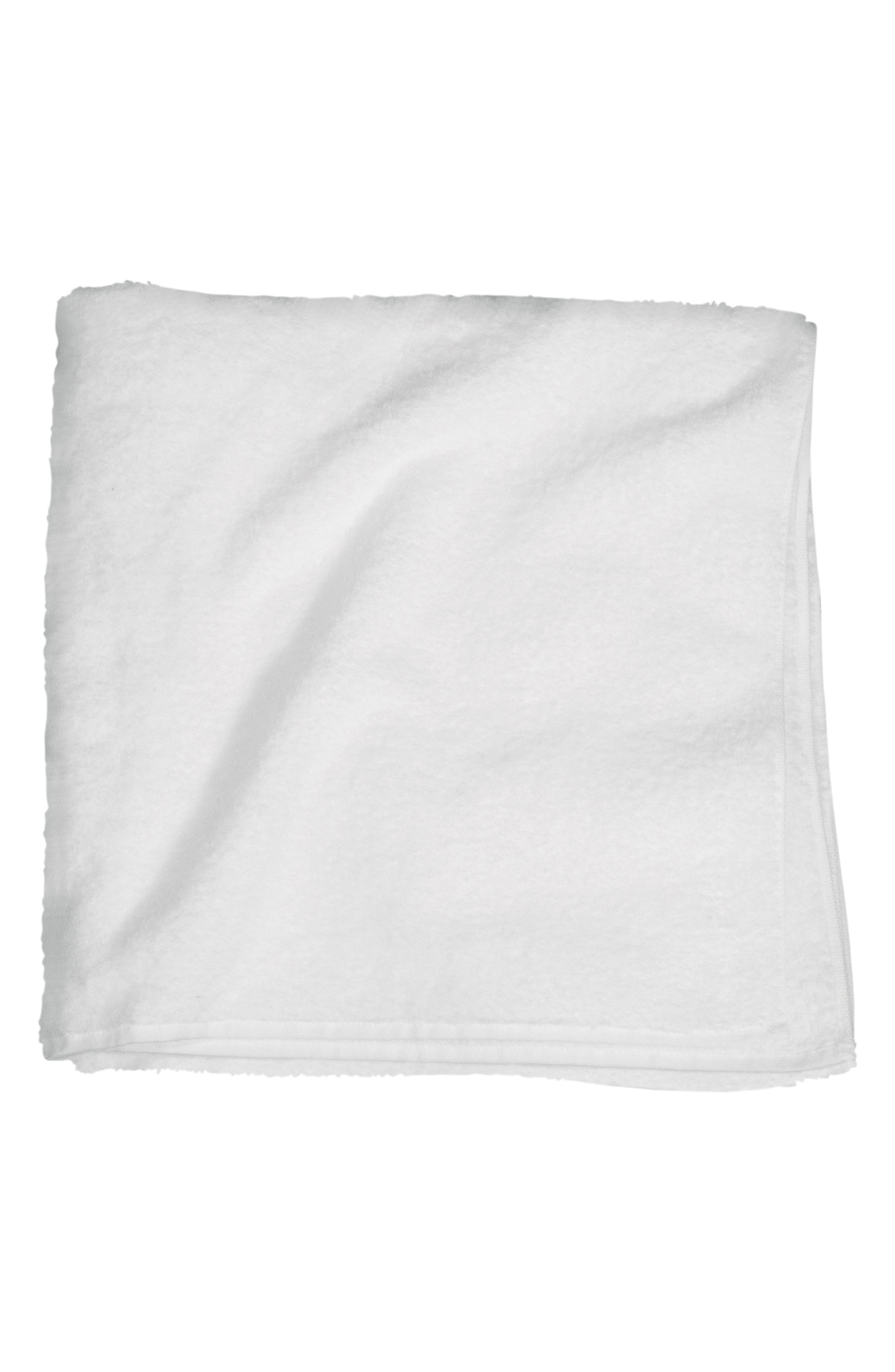 Zero Twist Bath Towel,                             Main thumbnail 1, color,                             WHITE
