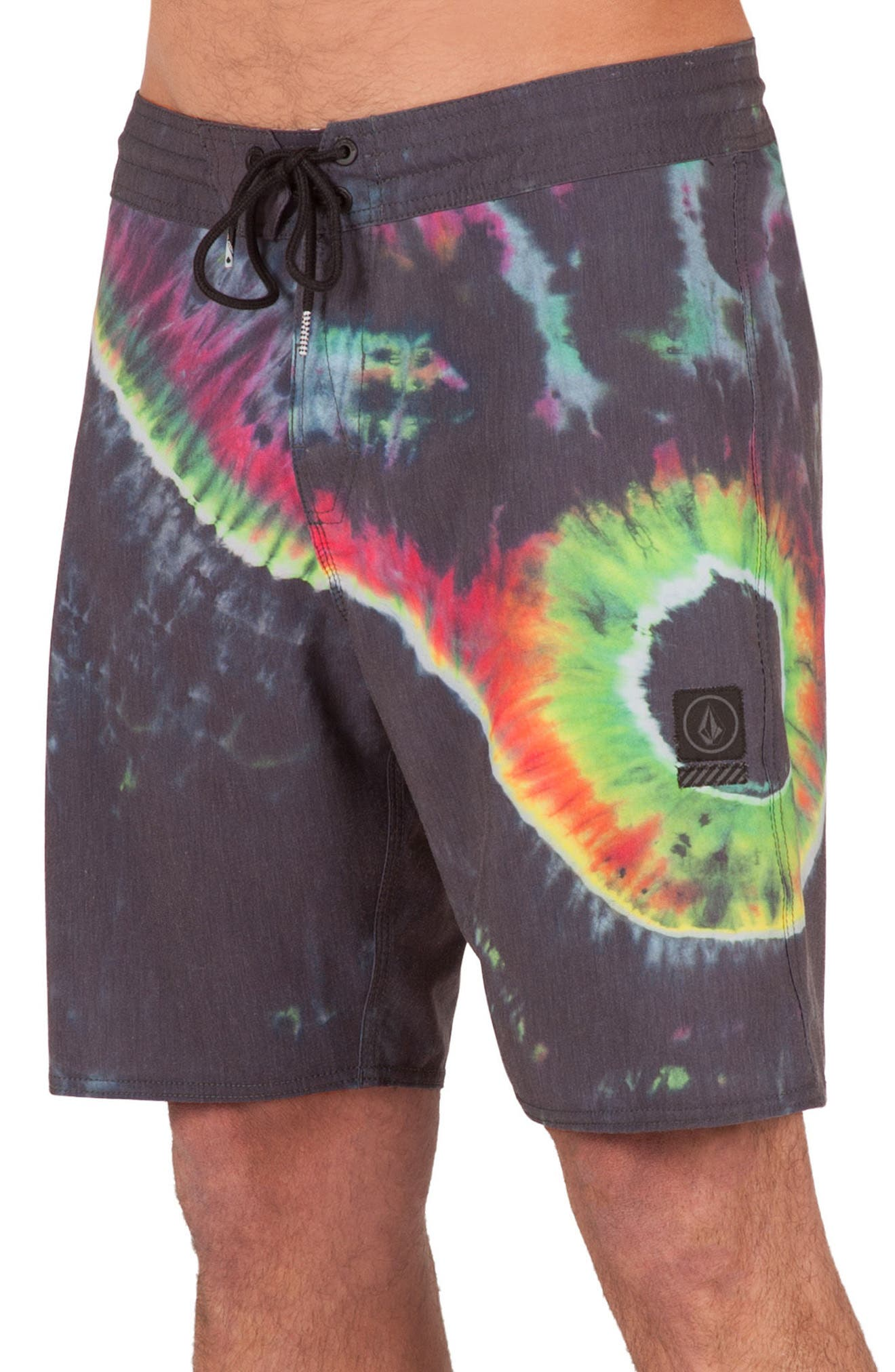 Yin Yang Slinger Board Shorts,                             Alternate thumbnail 3, color,                             002