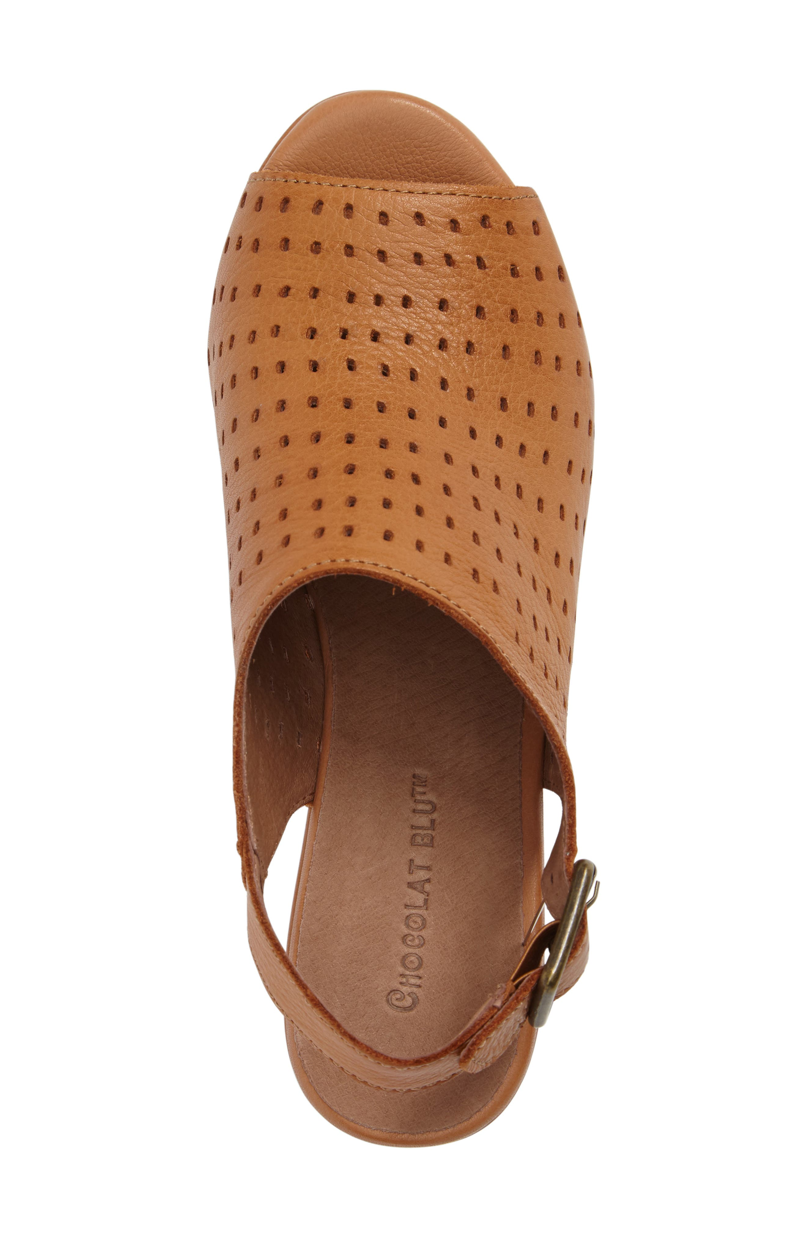 Wala Perforated Wedge Sandal,                             Alternate thumbnail 5, color,                             200
