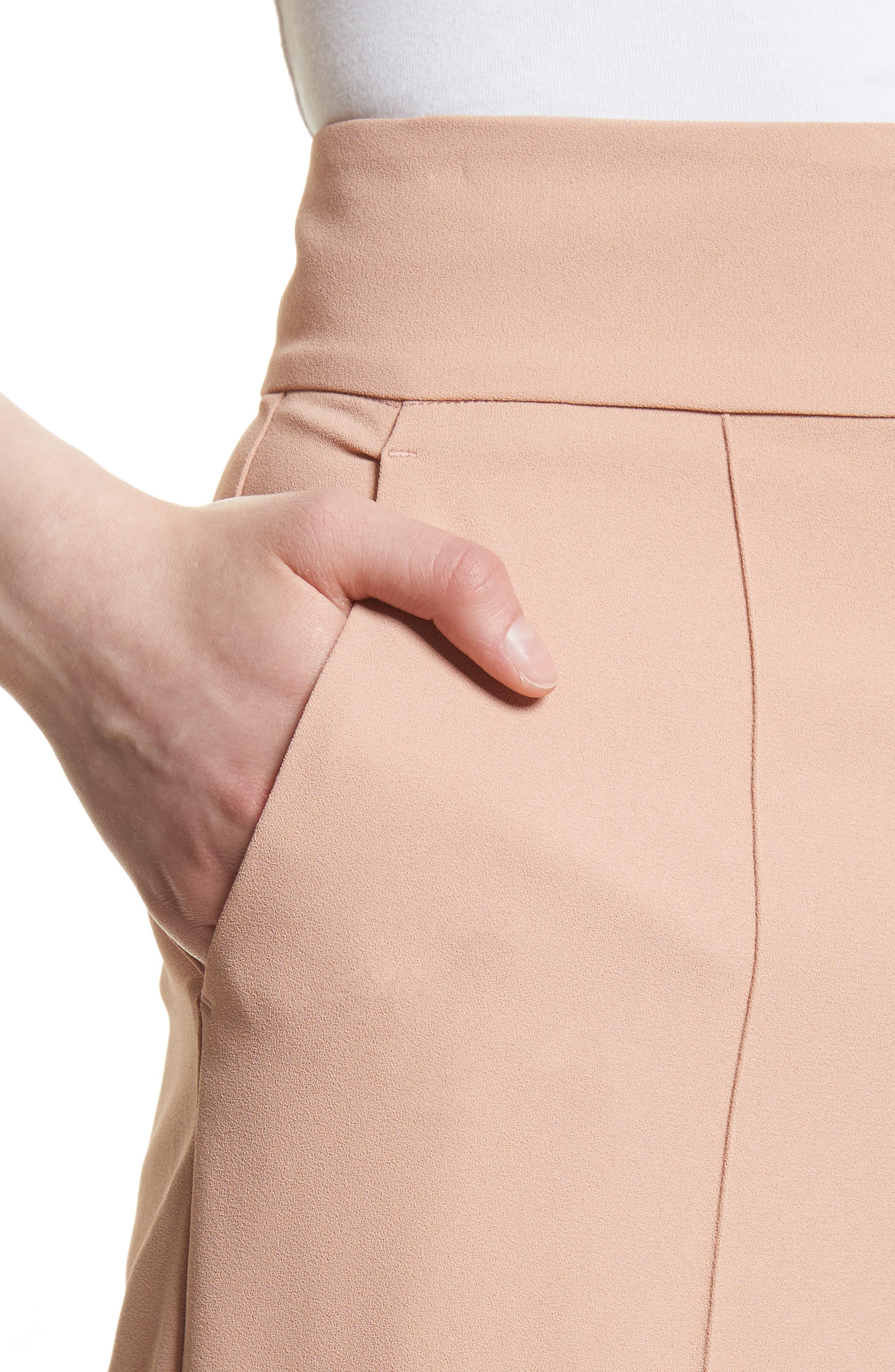 Dawn High Waist Front Pintuck Flared Pants,                             Alternate thumbnail 4, color,                             657