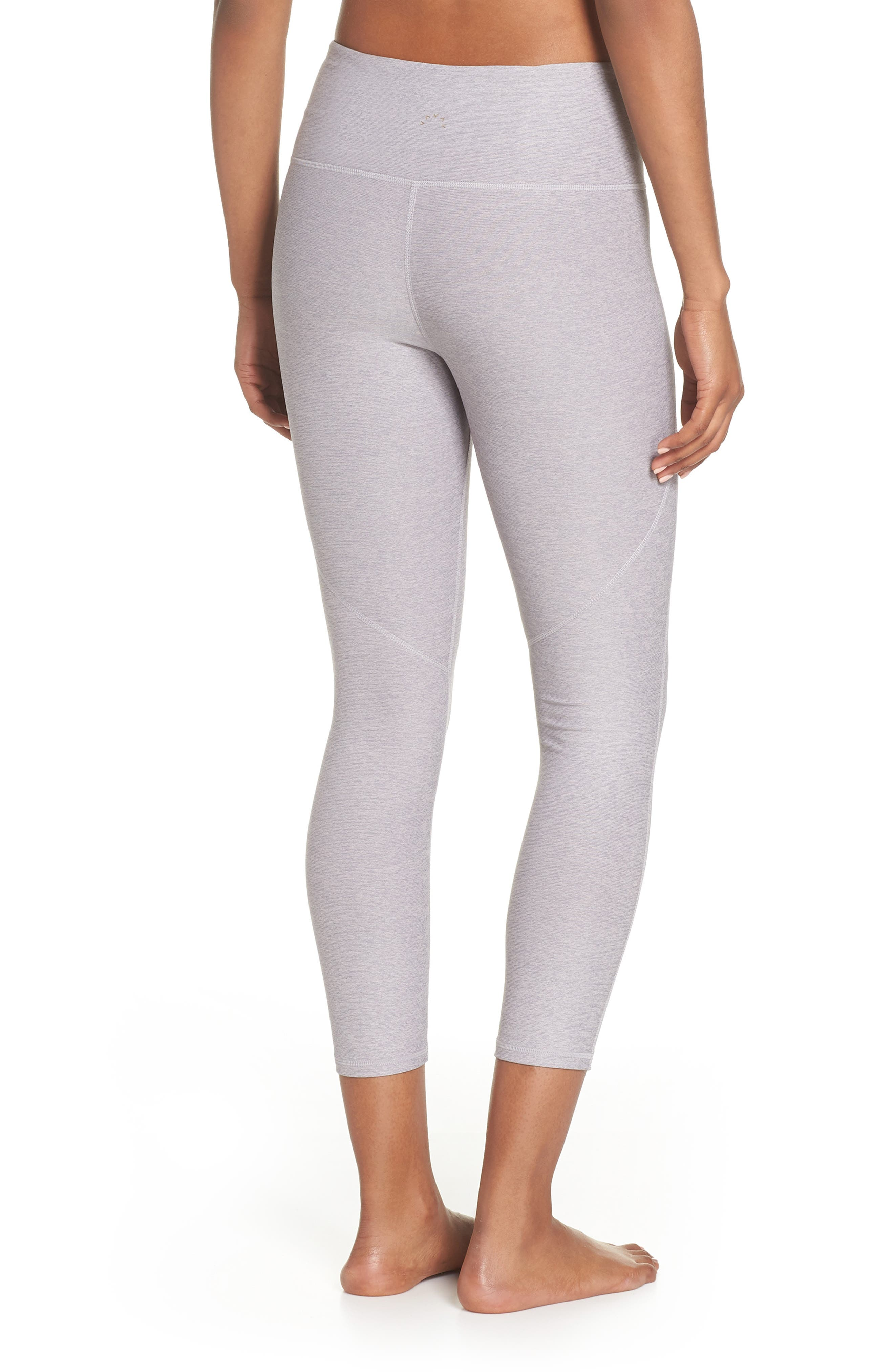 Everett High Waist Crop Tights,                             Alternate thumbnail 2, color,                             GINGER SNAP/ FOLKSTONE GRAY