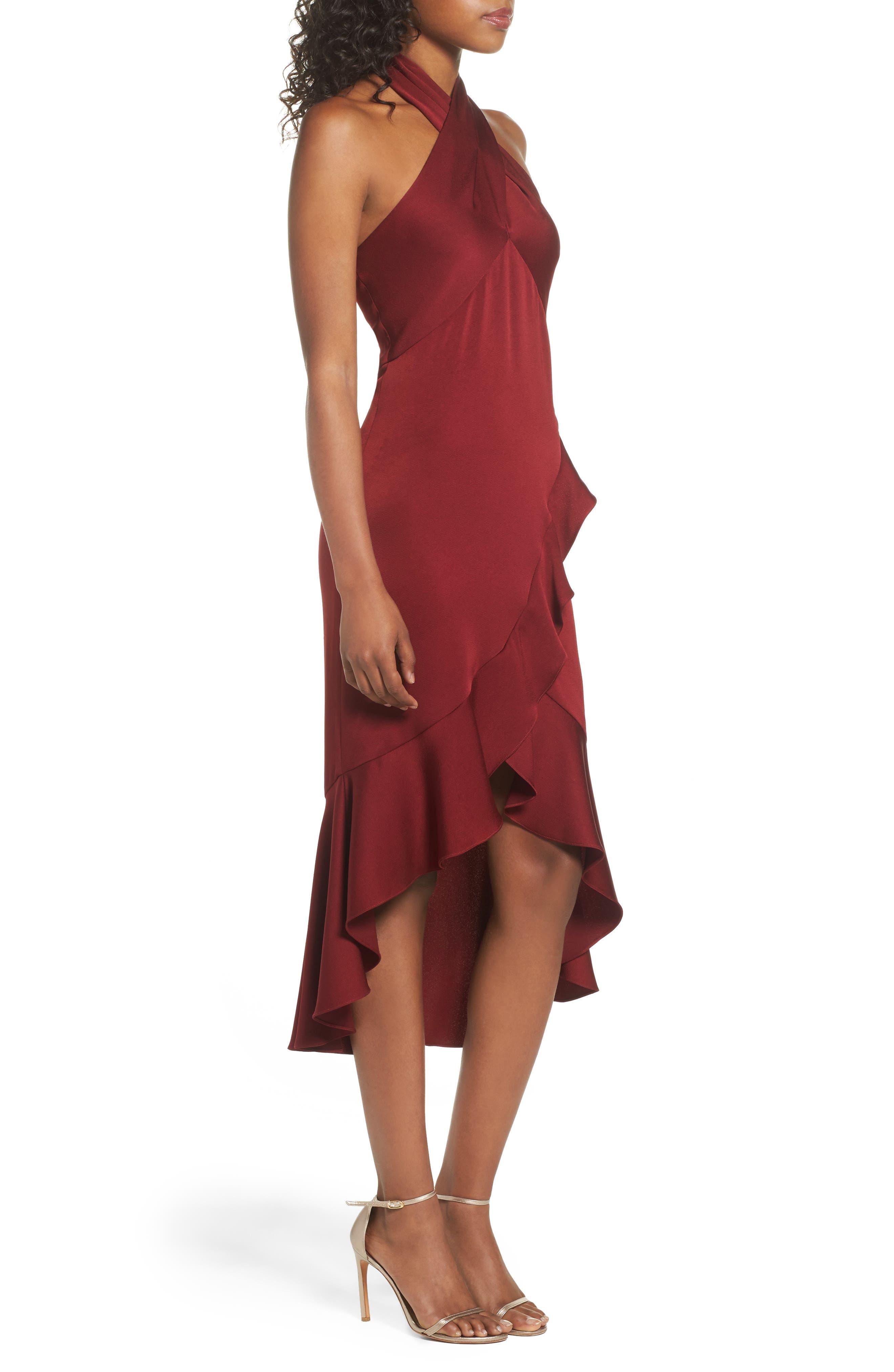 Boswell High/Low Halter Dress,                             Alternate thumbnail 3, color,