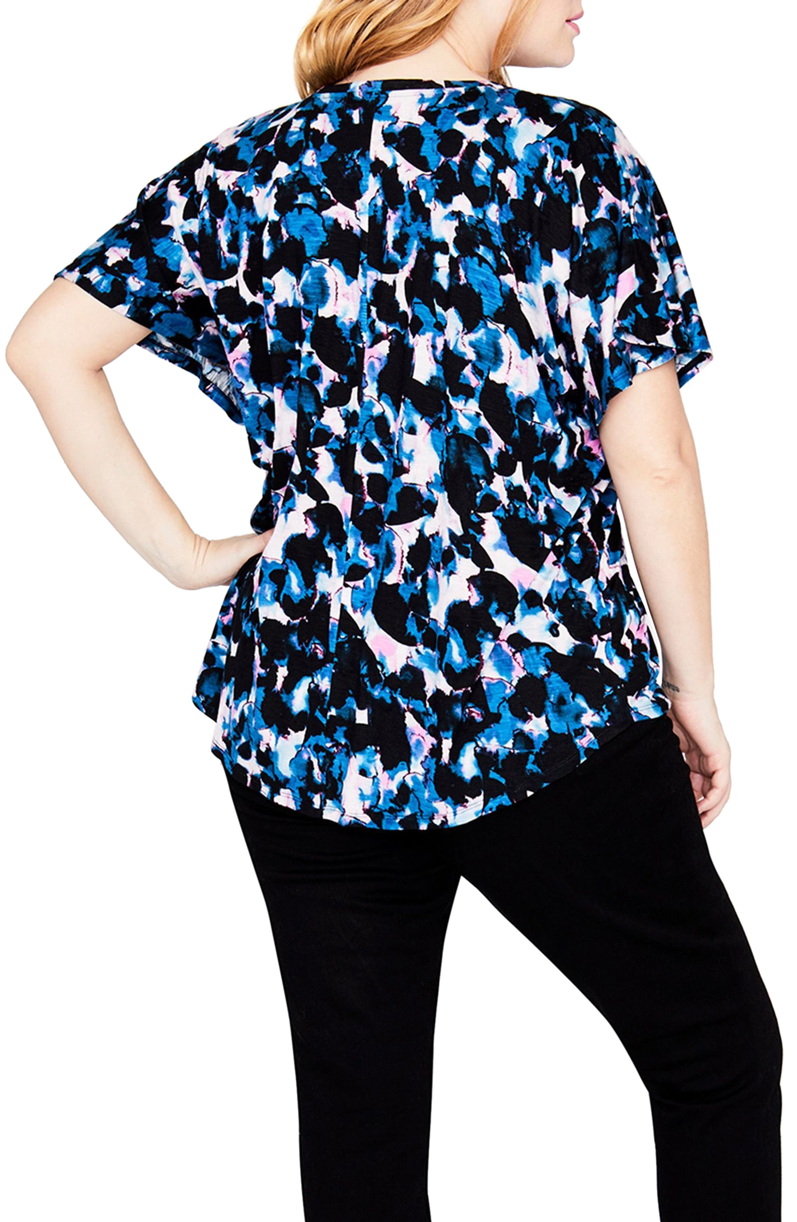 Drape Front Shirt,                             Alternate thumbnail 2, color,                             TRUE NAVY COMBO