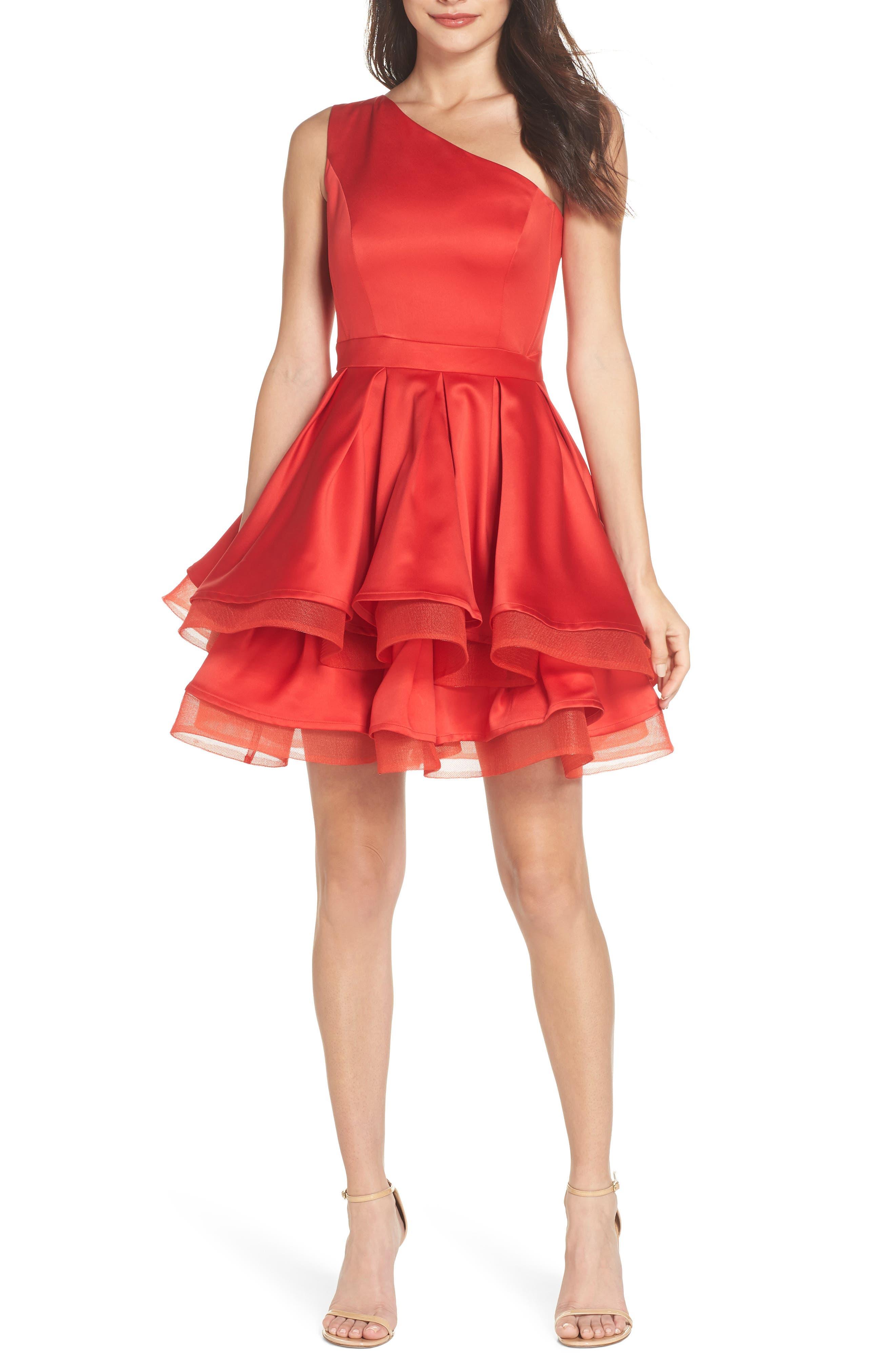 Emmanuel One-Shoulder Party Dress,                             Main thumbnail 1, color,                             600