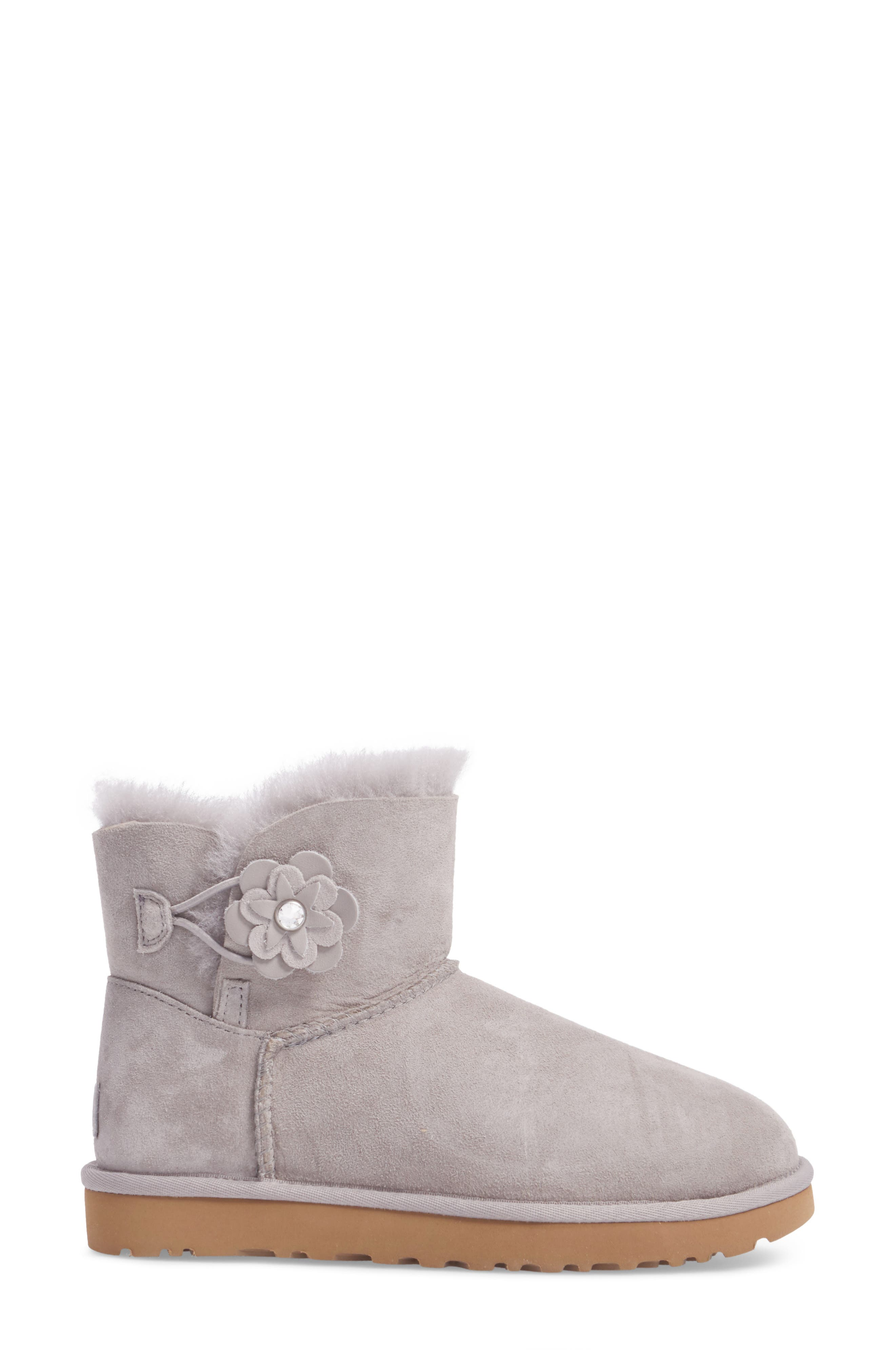 Bailey Petal Genuine Shearling Lined Mini Boot,                             Alternate thumbnail 8, color,