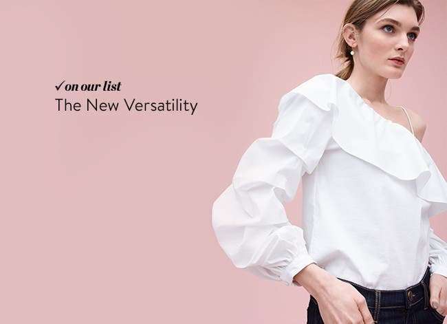 The new versatility in tops.