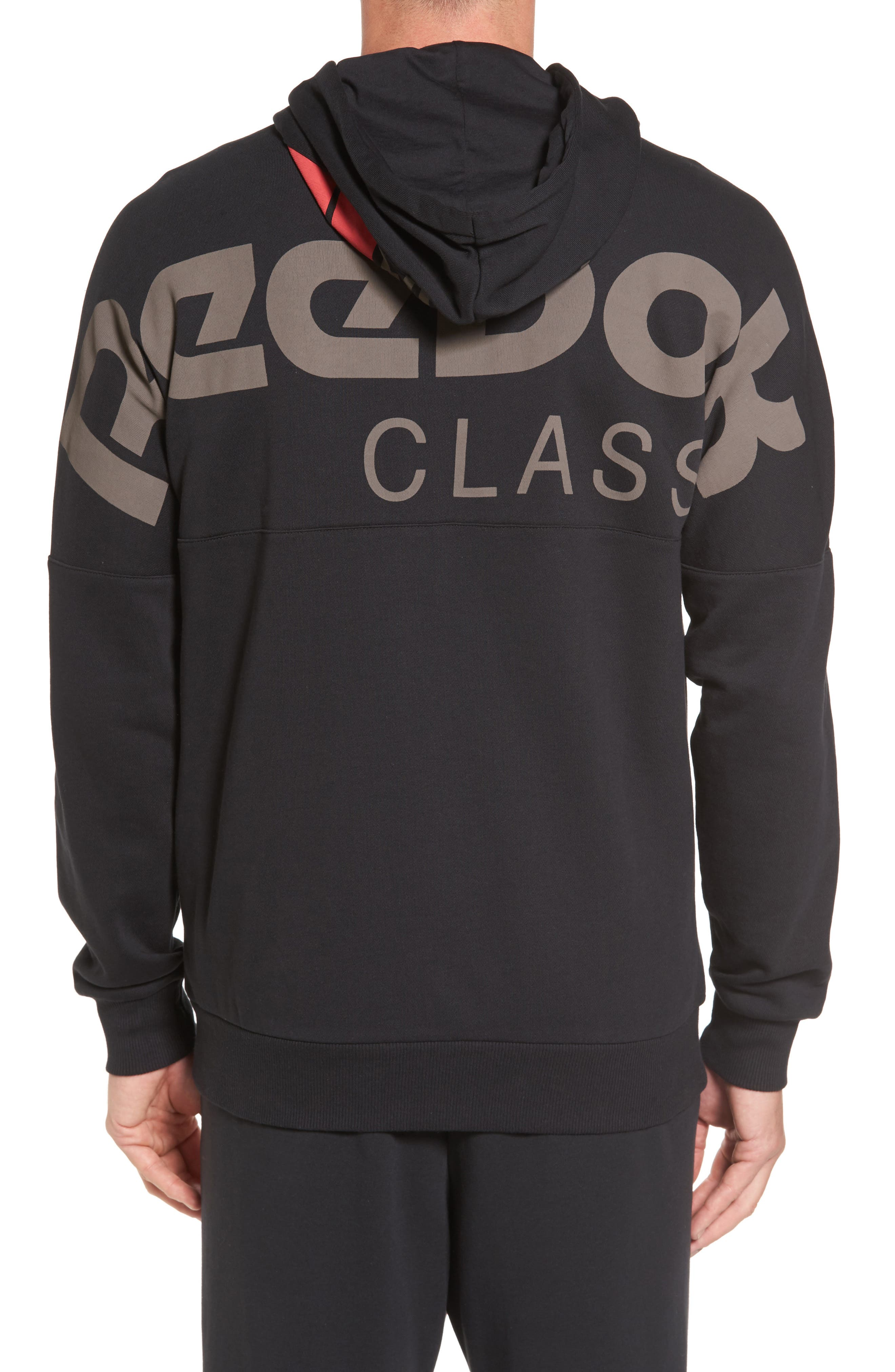 Classic Graphic Zip Hoodie,                             Alternate thumbnail 3, color,