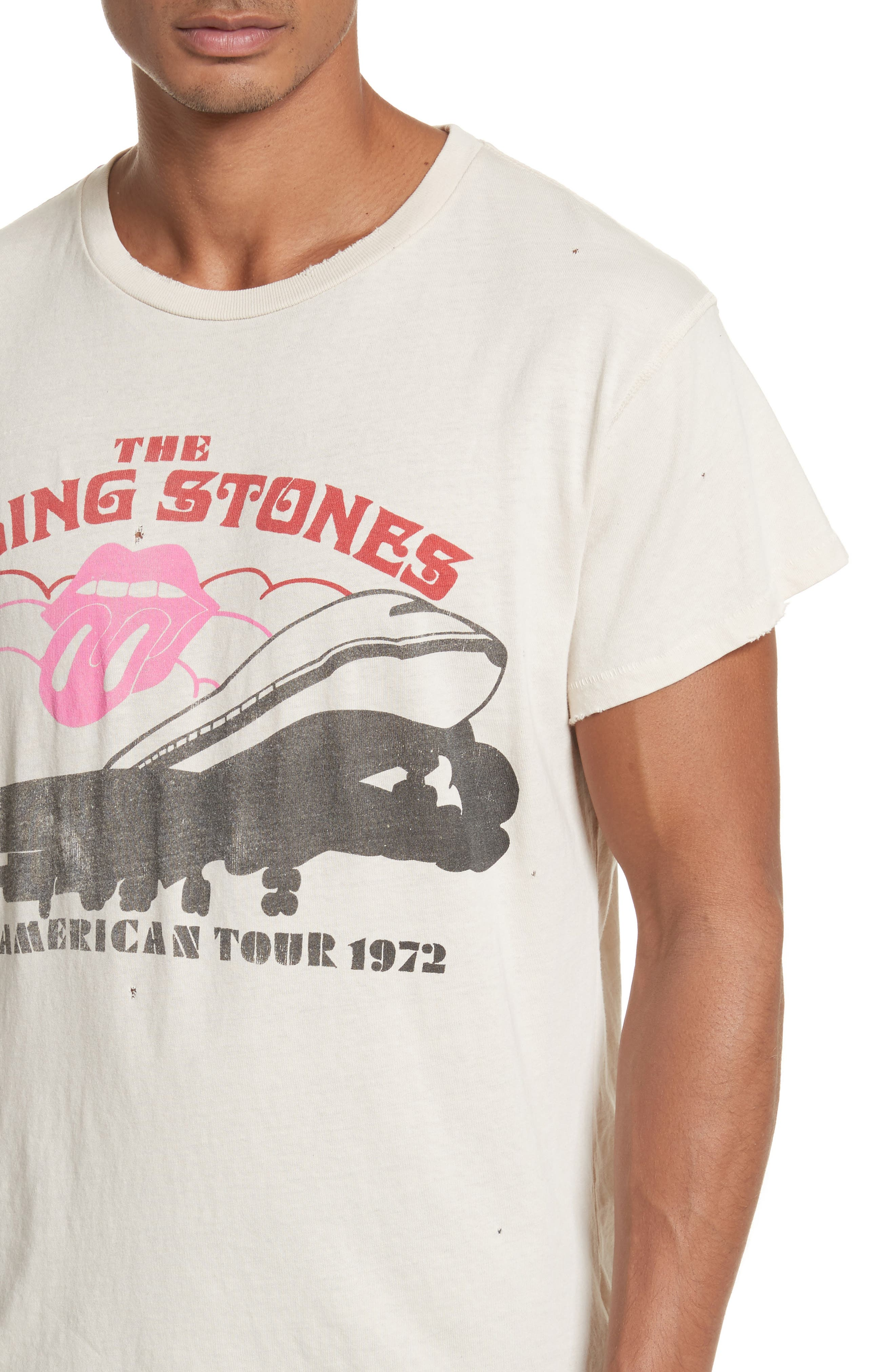 The Rolling Stones North American Tour 1972 Graphic T-Shirt,                             Alternate thumbnail 4, color,                             100