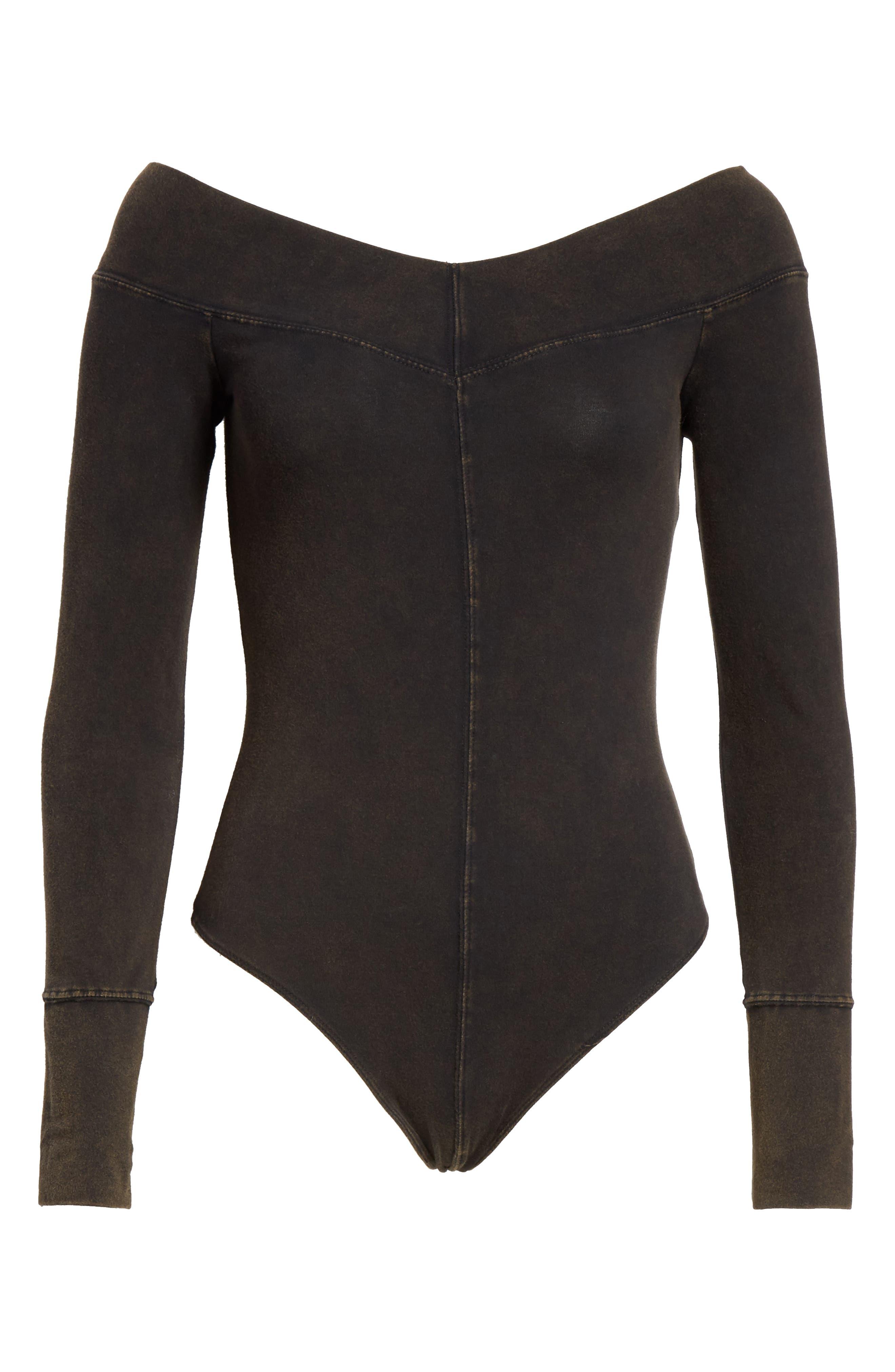 Zone Out Bodysuit,                             Alternate thumbnail 6, color,                             BLACK