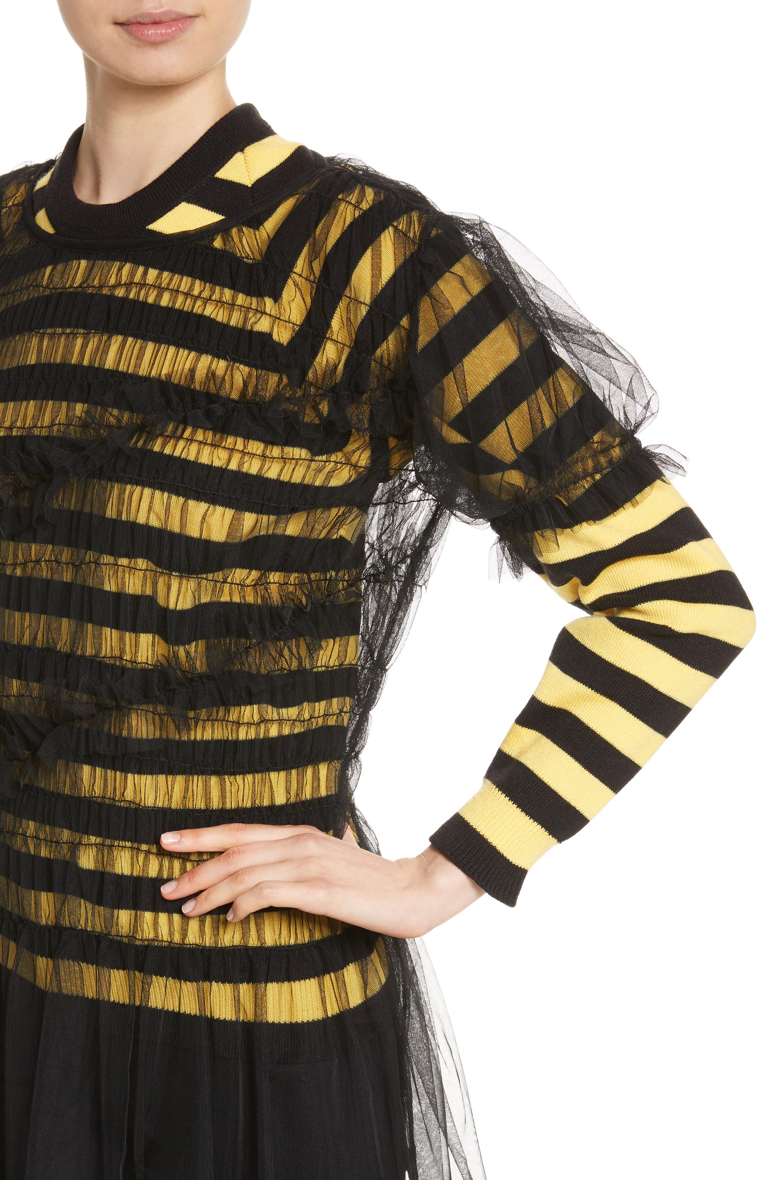 Emily Tulle Dress,                             Alternate thumbnail 4, color,