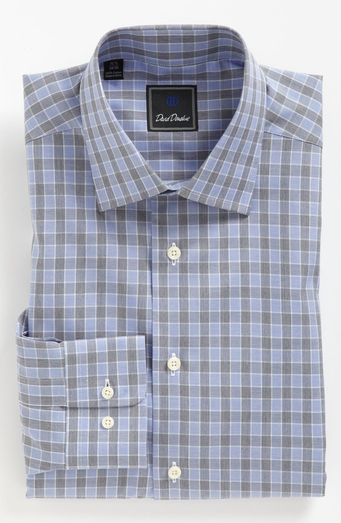 DAVID DONAHUE Regular Fit Dress Shirt, Main, color, 423