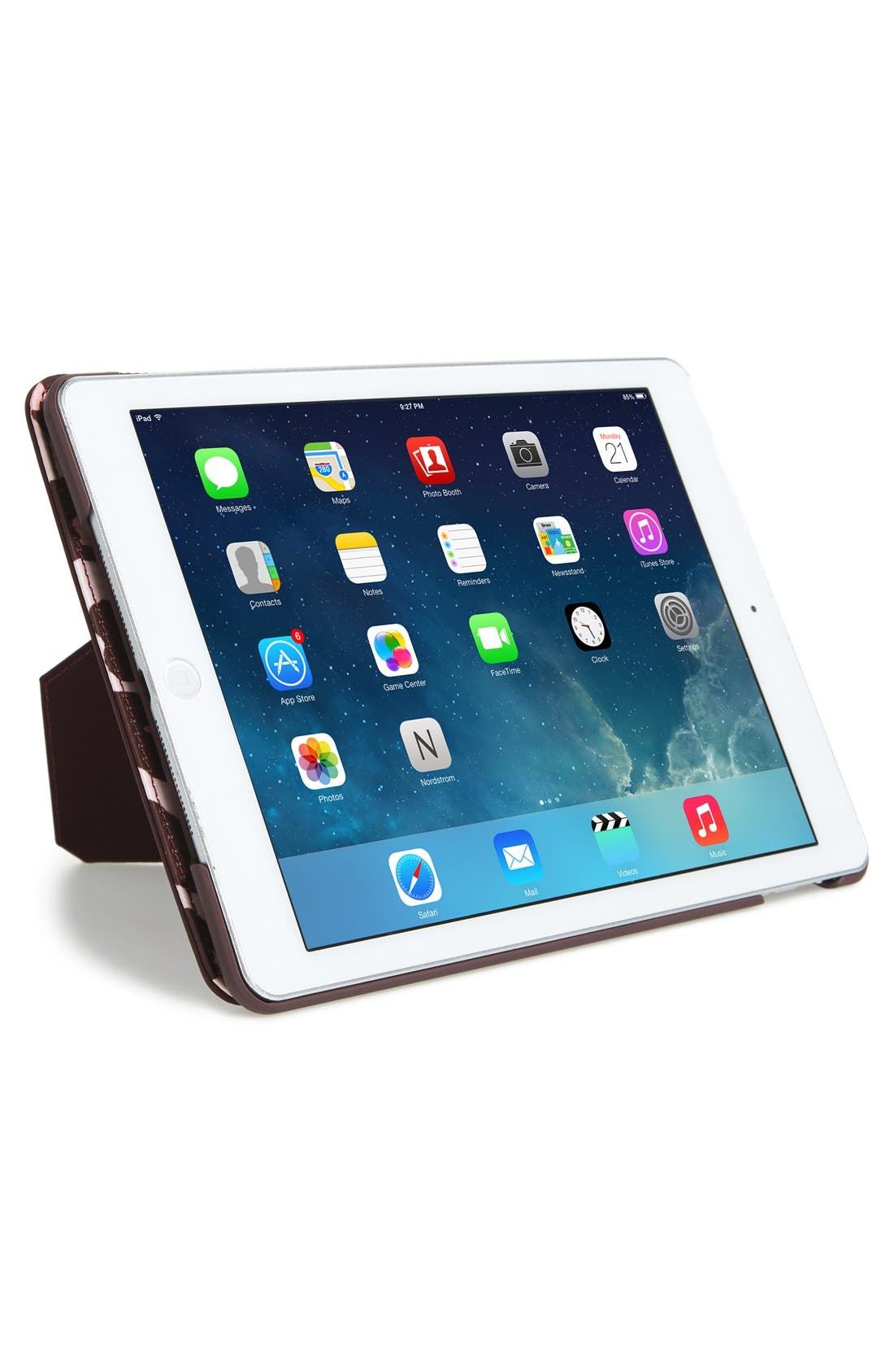 KATE SPADE NEW YORK,                             leopard print iPad Air 2 hardcase folio,                             Alternate thumbnail 3, color,                             650