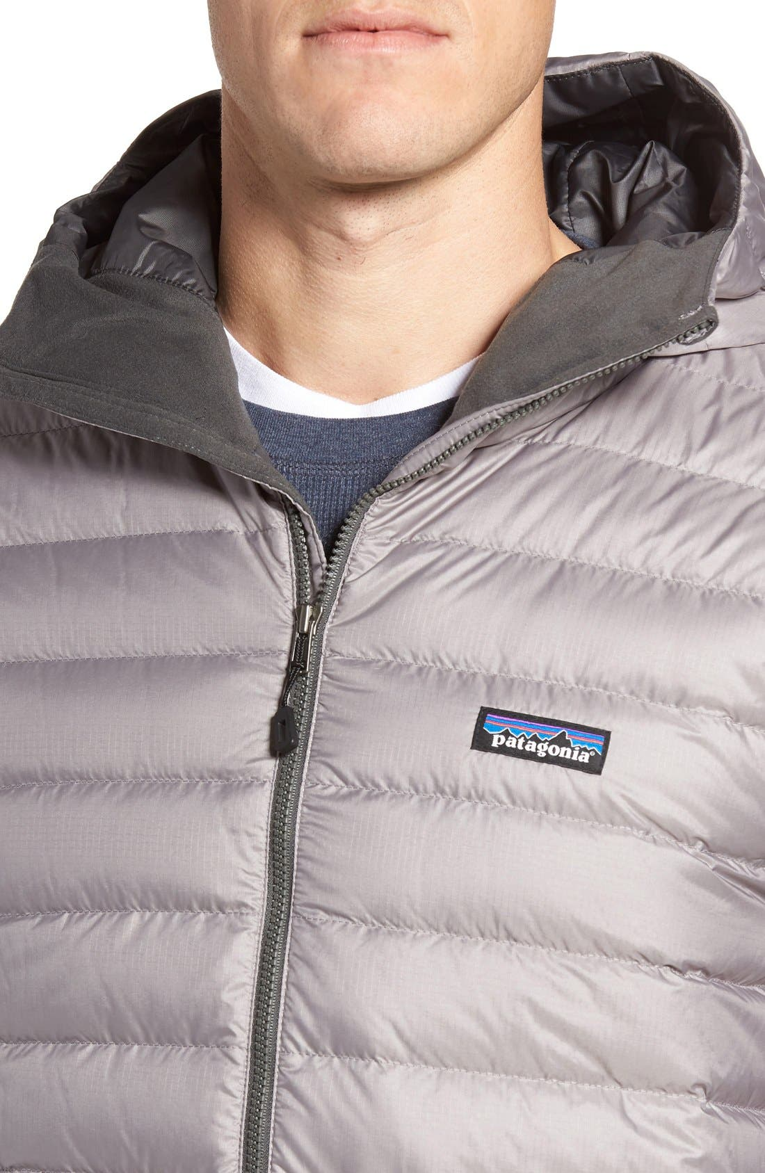 Packable Windproof & Water Resistant Goose Down Sweater Hooded Jacket,                             Alternate thumbnail 37, color,