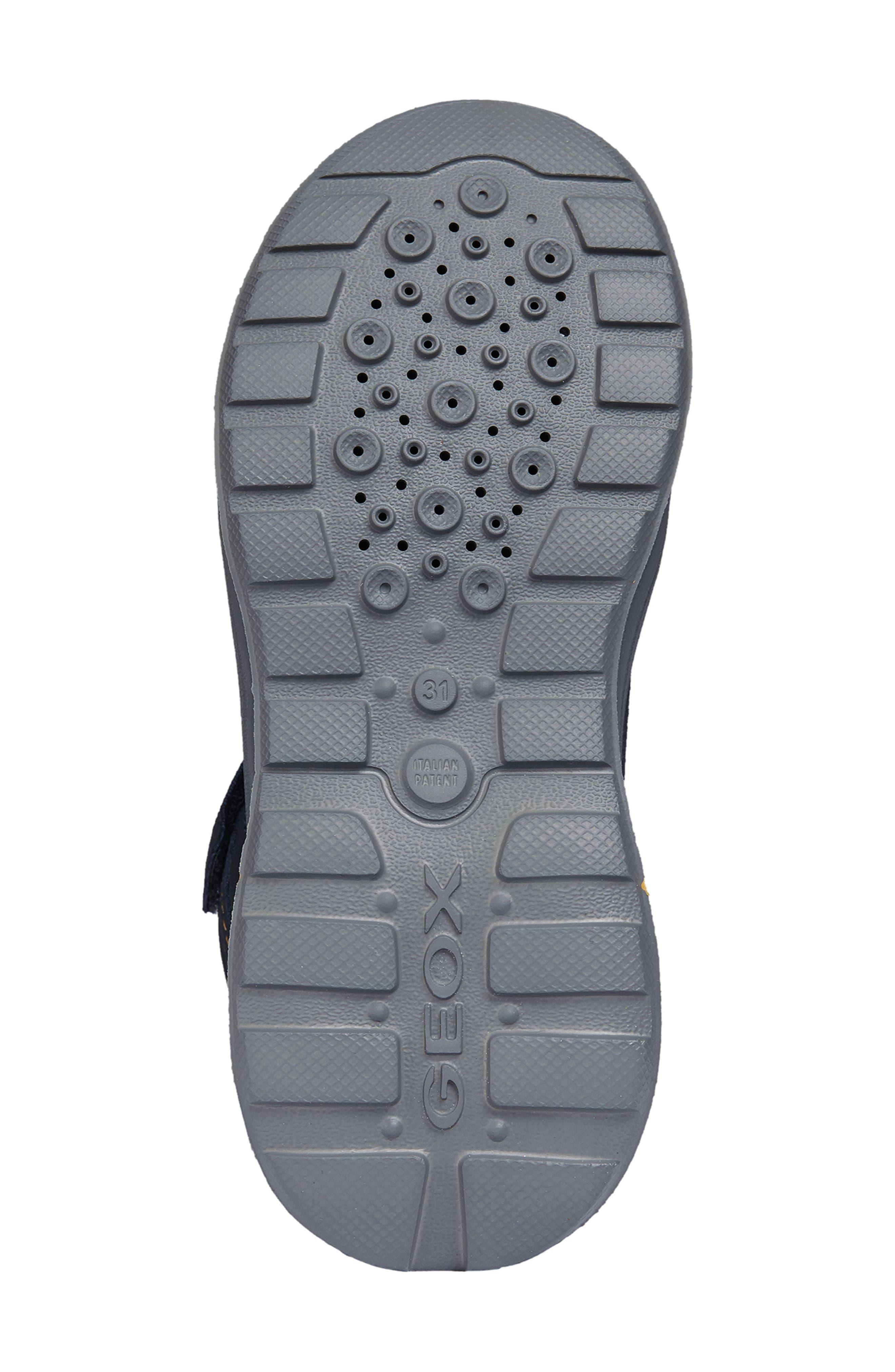 Sveggen ABX Waterproof Sneaker,                             Alternate thumbnail 6, color,                             NAVY/YELLOW