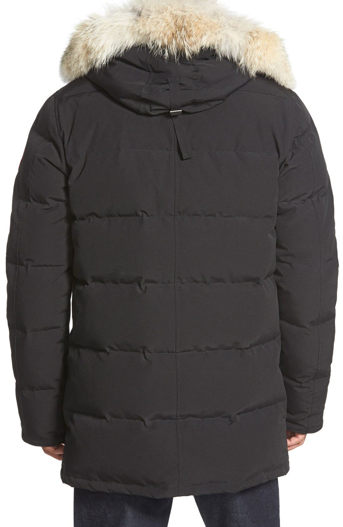 'Carson' Slim Fit Hooded Packable Parka with Genuine Coyote Fur Trim,                             Alternate thumbnail 6, color,                             GRAPHITE