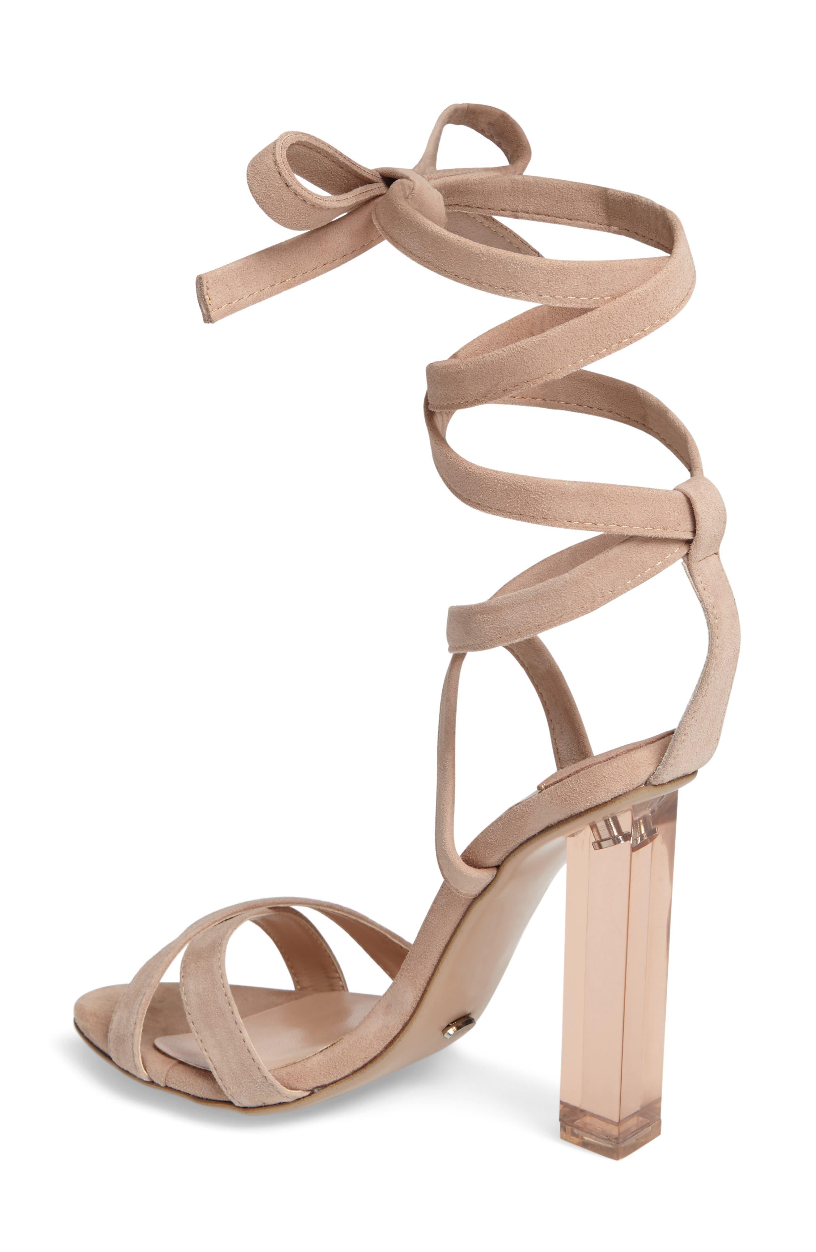 Komma Translucent Heel Sandal,                             Alternate thumbnail 4, color,