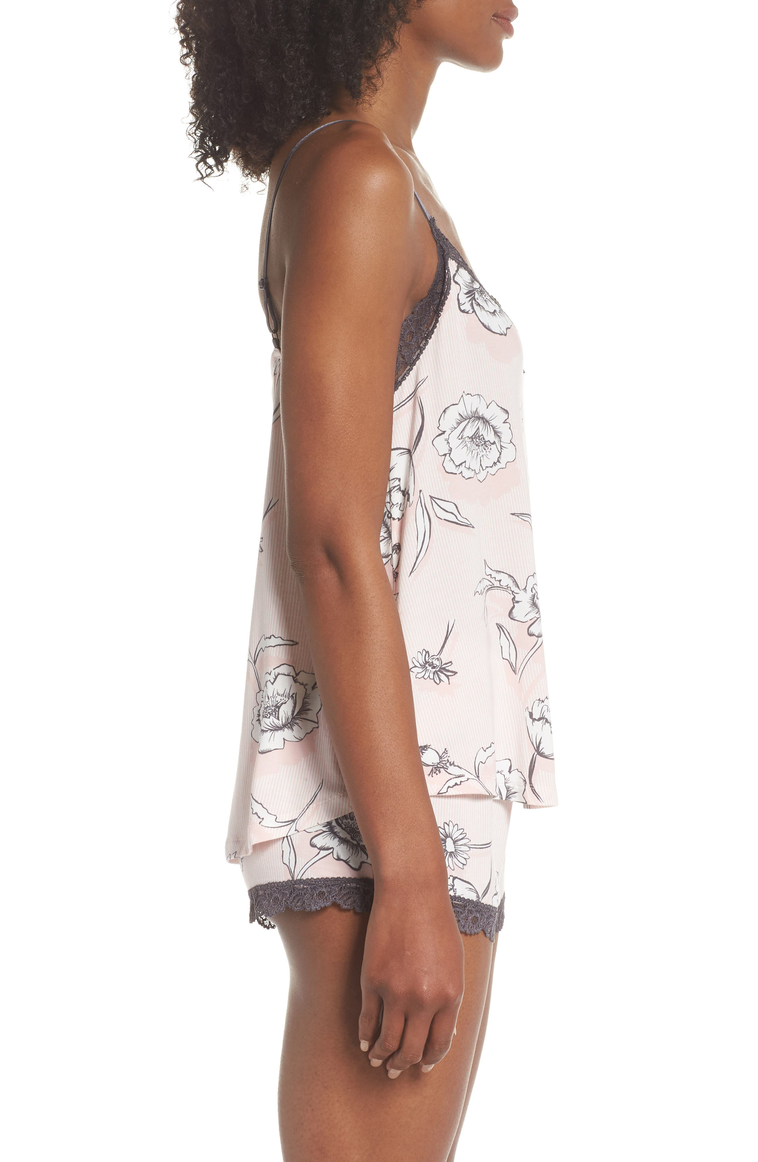 Shadow Floral Camisole,                             Alternate thumbnail 3, color,                             BLUSH