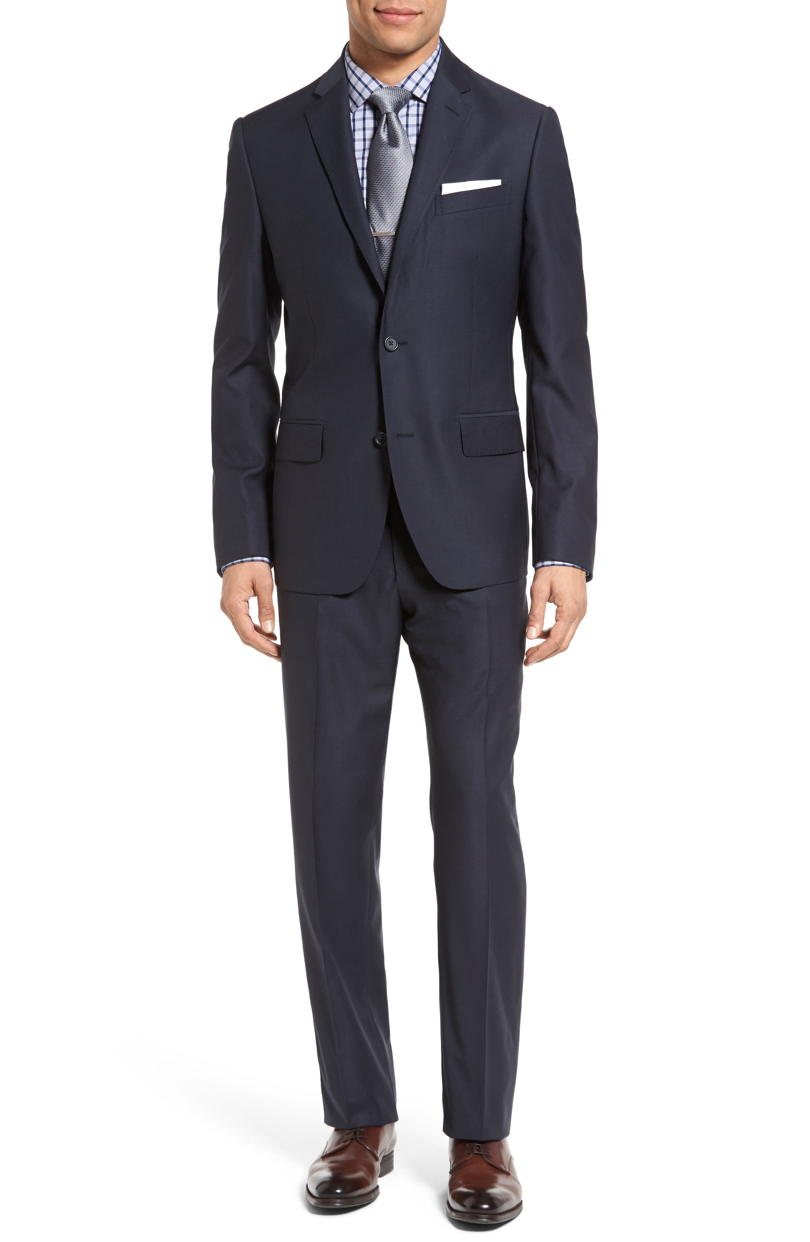Classic Fit Solid Wool Suit,                             Main thumbnail 6, color,