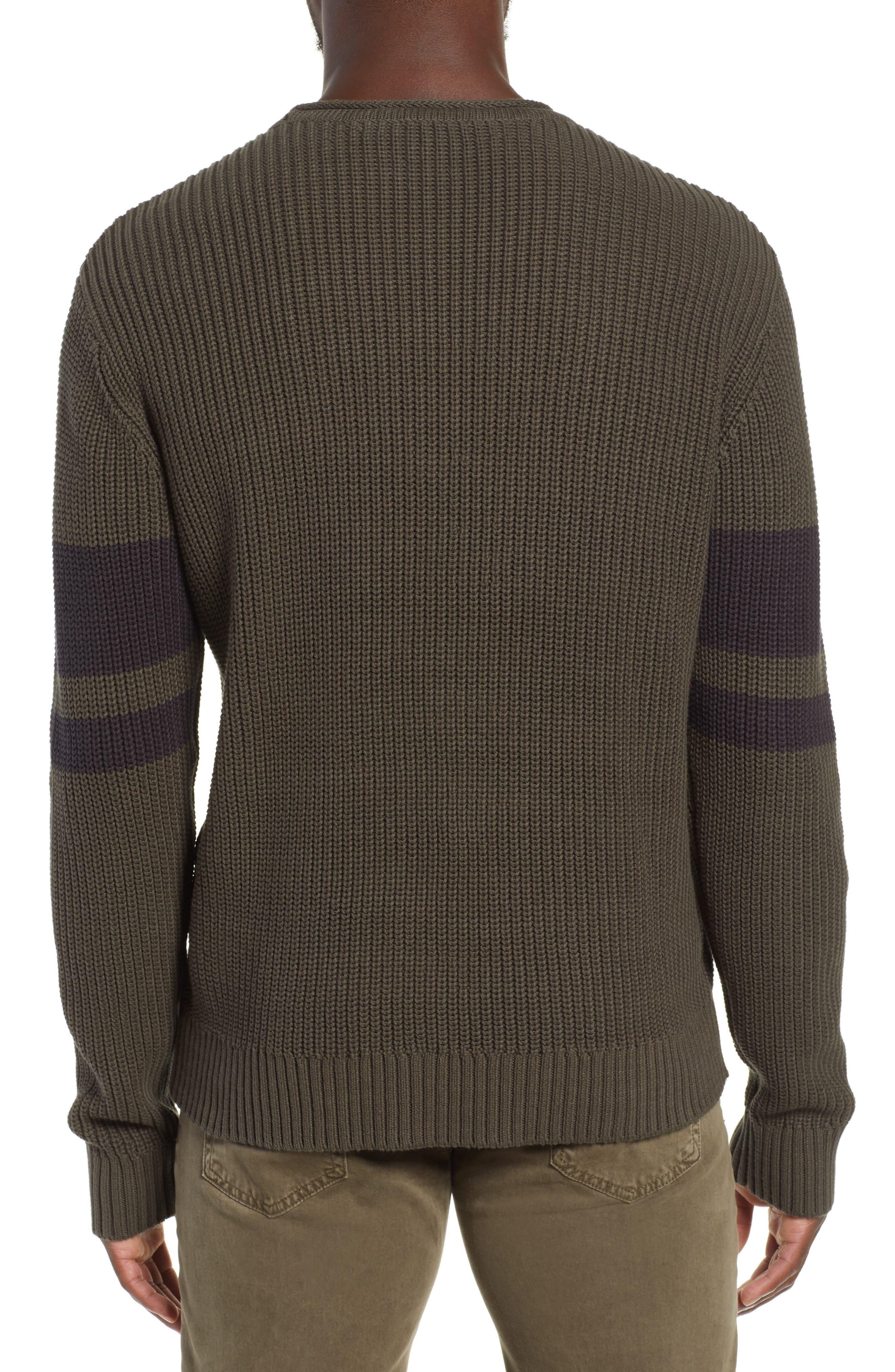 Jett Slim Fit Crewneck Sweater,                             Alternate thumbnail 2, color,                             OAK GROVE/ BLACK