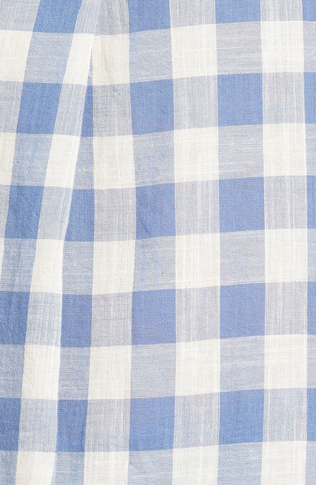 'Courier' Back Button Shirt,                             Alternate thumbnail 6, color,                             408