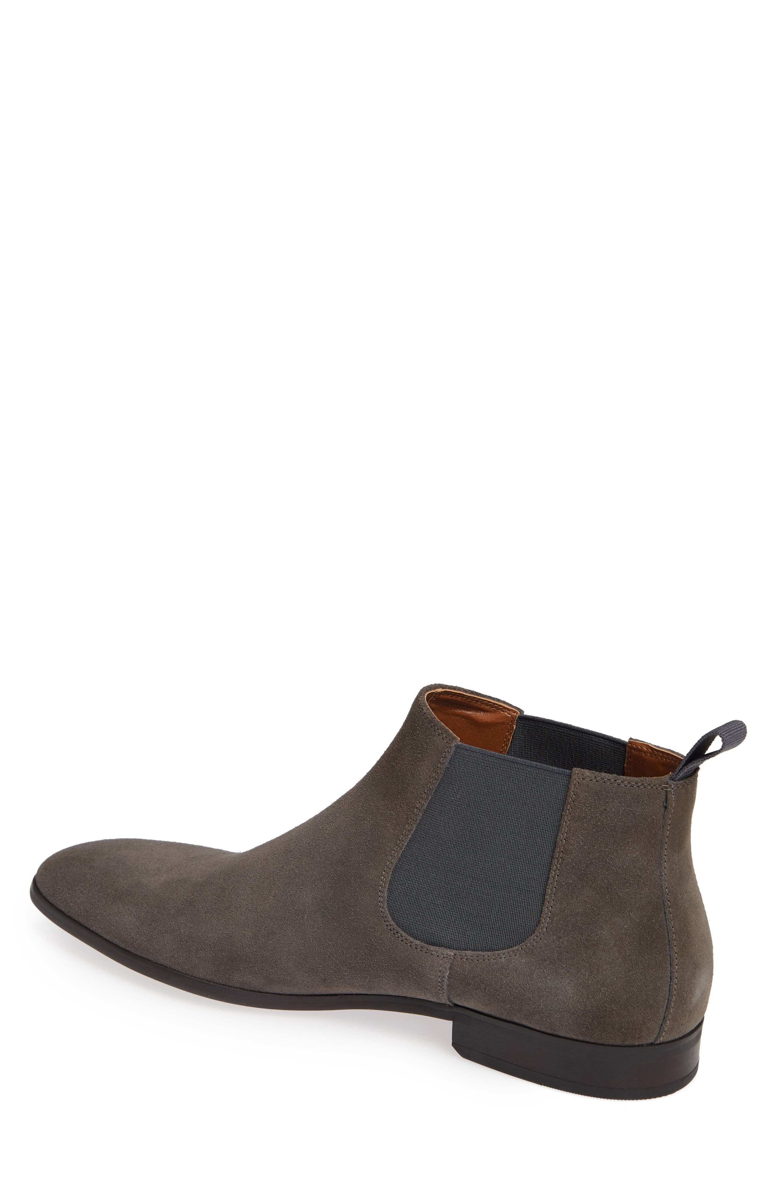 Edward Chelsea Boot,                             Alternate thumbnail 2, color,                             CHARCOAL SUEDE