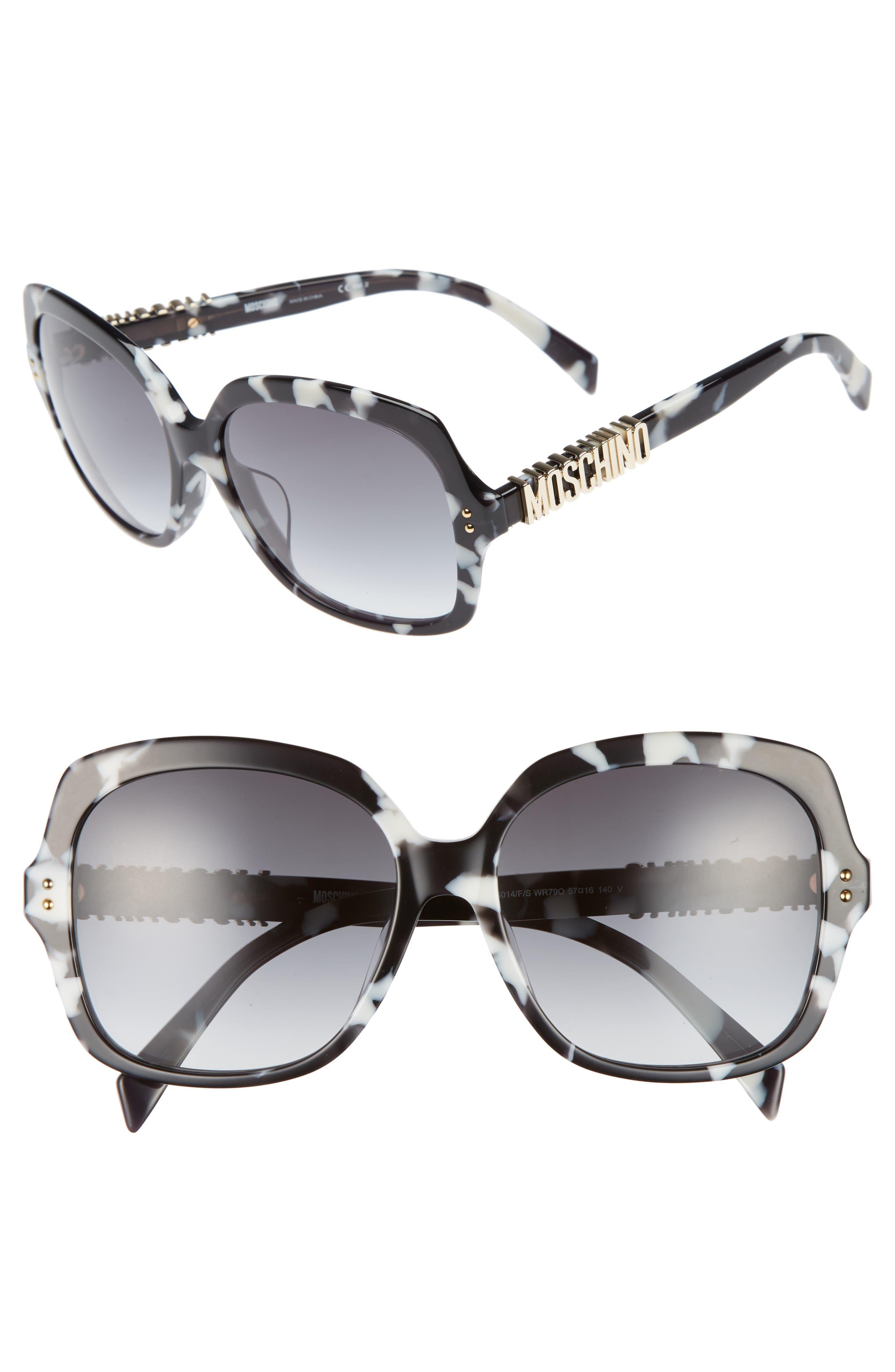 57mm Oversized Polarized Sunglasses,                             Main thumbnail 2, color,