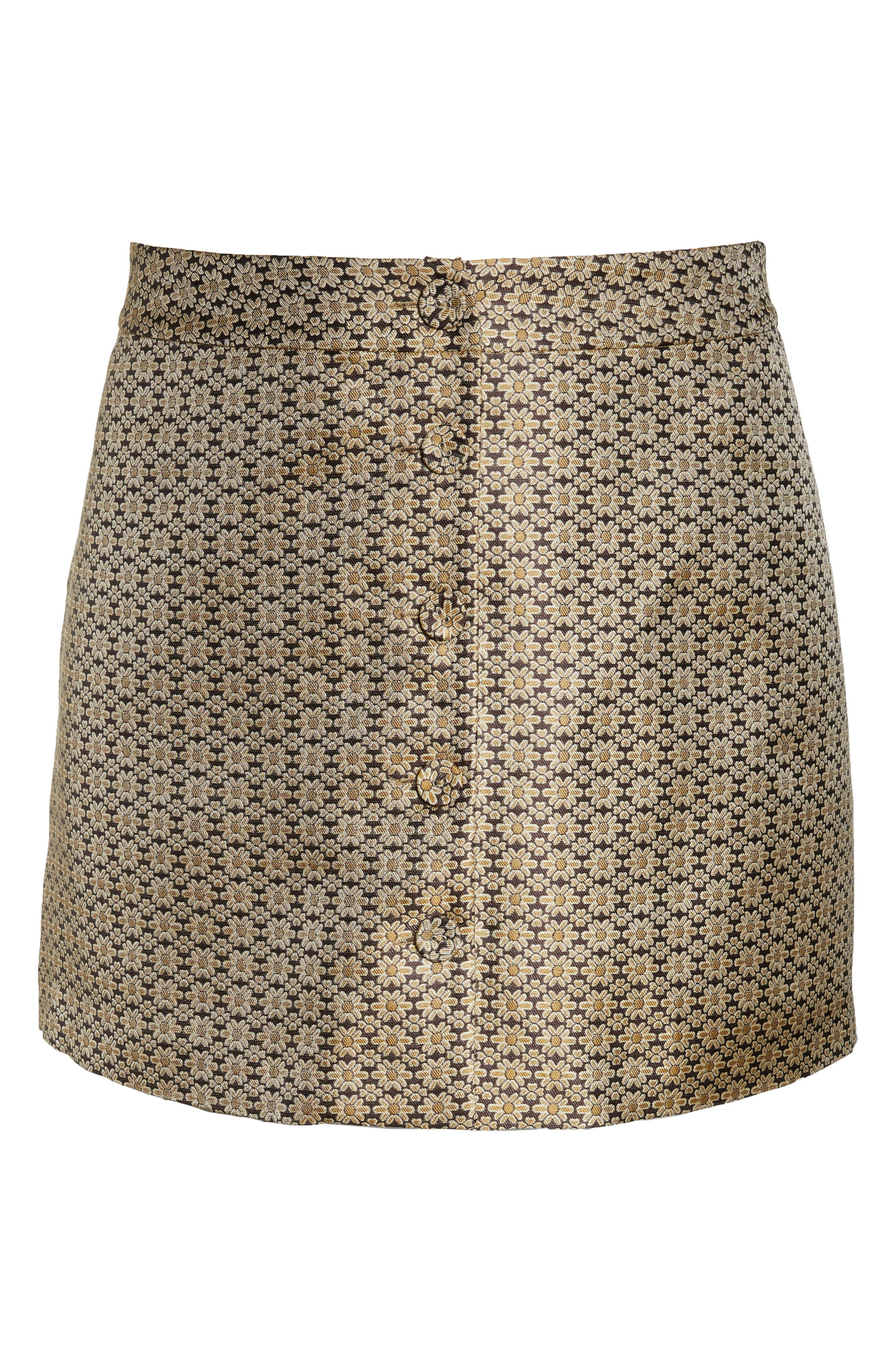 Pelham Button Front Miniskirt,                             Alternate thumbnail 12, color,                             710