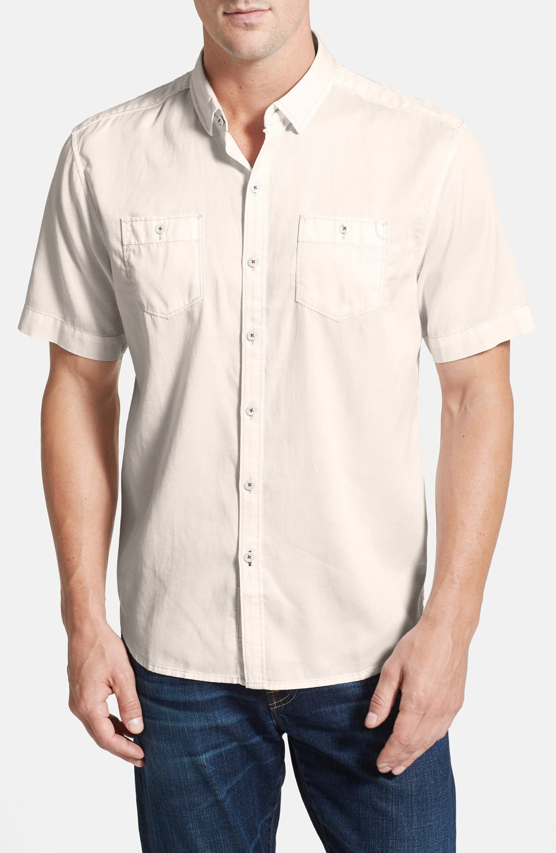 'New Twilly' Island Modern Fit Short Sleeve Twill Shirt,                             Main thumbnail 2, color,