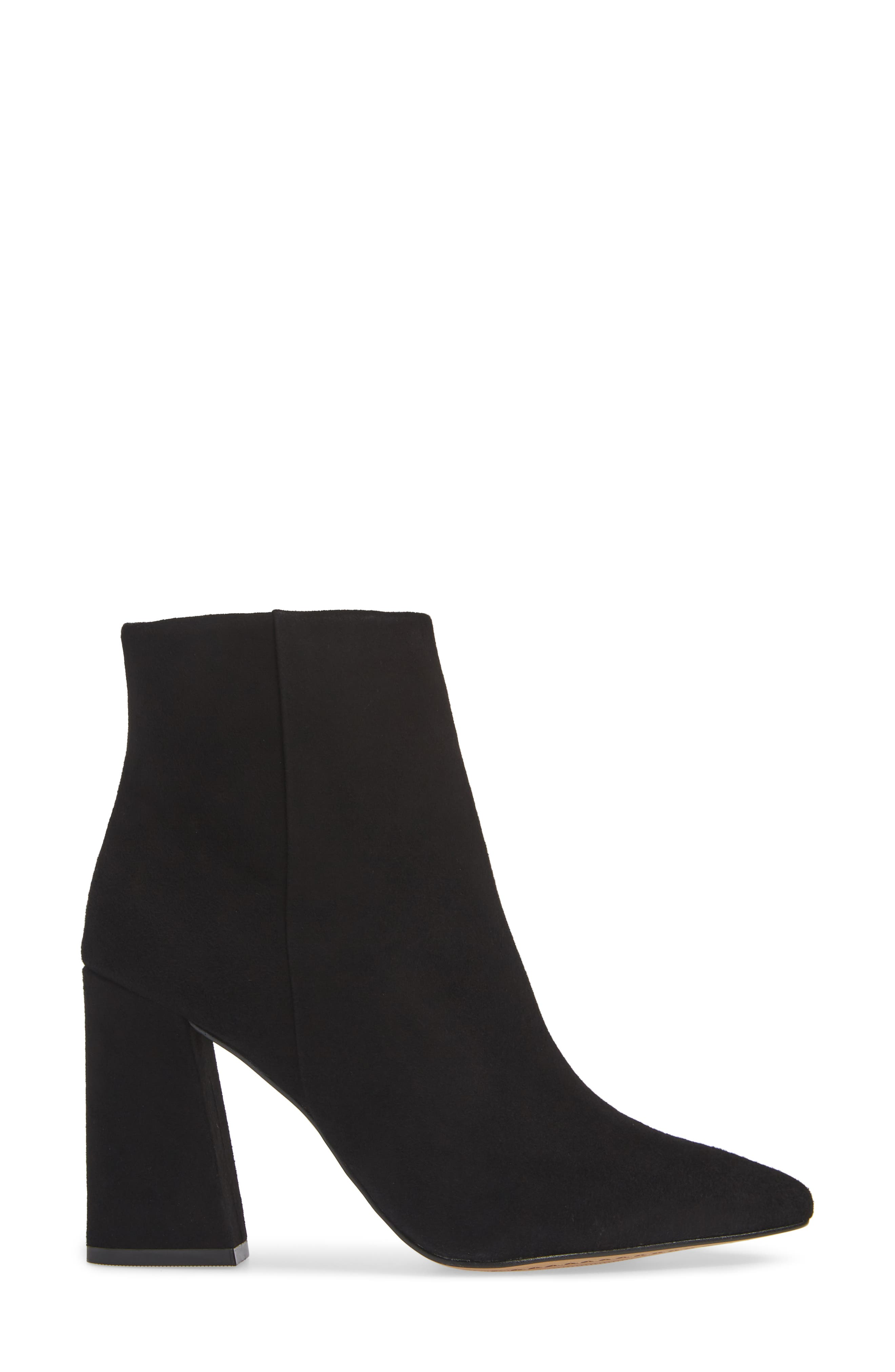 VINCE CAMUTO,                             Thelmin Genuine Calf Hair Bootie,                             Alternate thumbnail 3, color,                             003