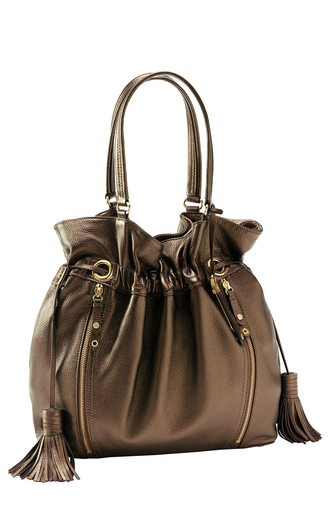 'Bailey' Pebbled Leather Drawstring Tote,                             Main thumbnail 7, color,