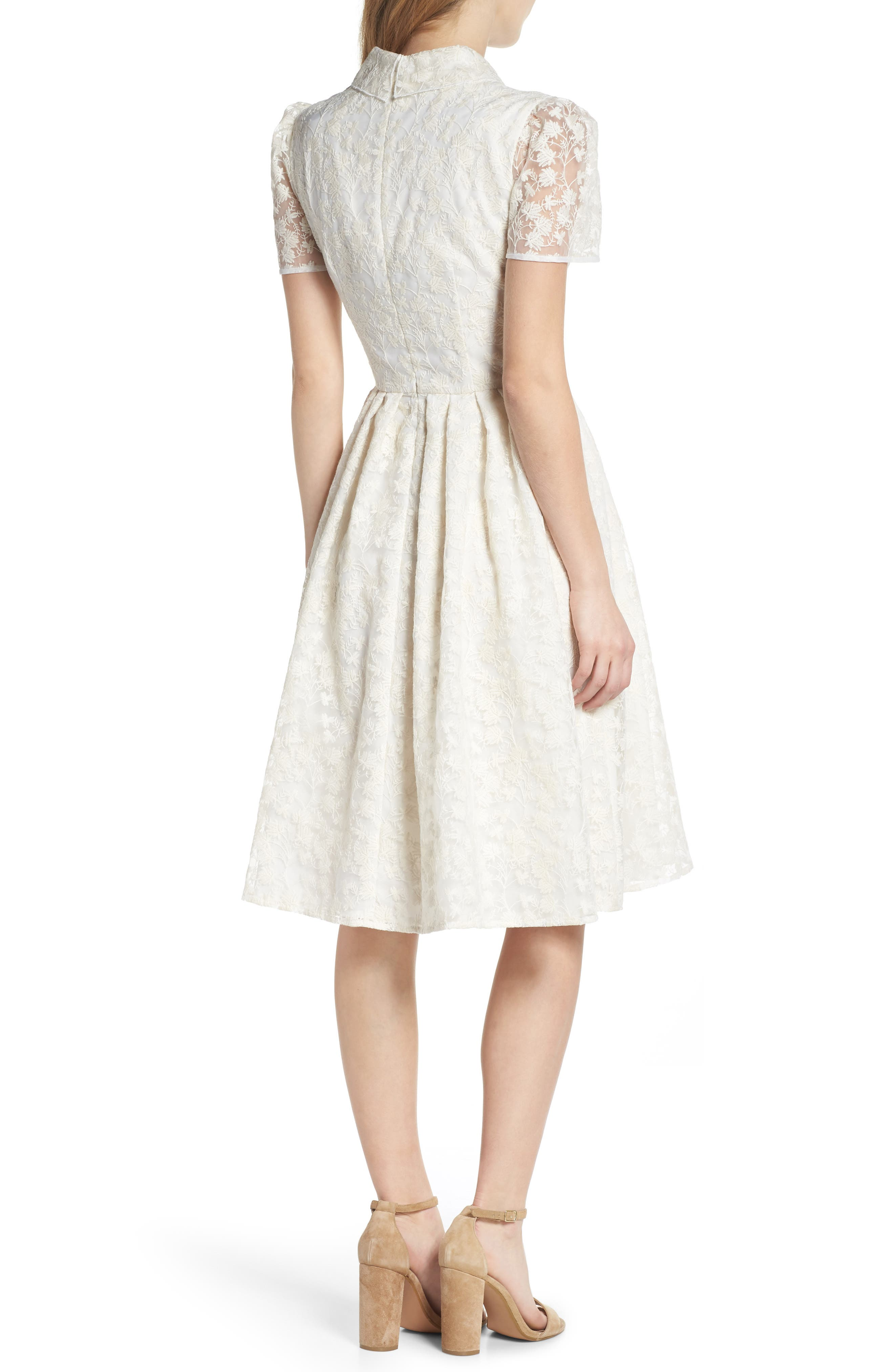 Amelia Embroidered Fit & Flare Dress,                             Alternate thumbnail 2, color,                             900